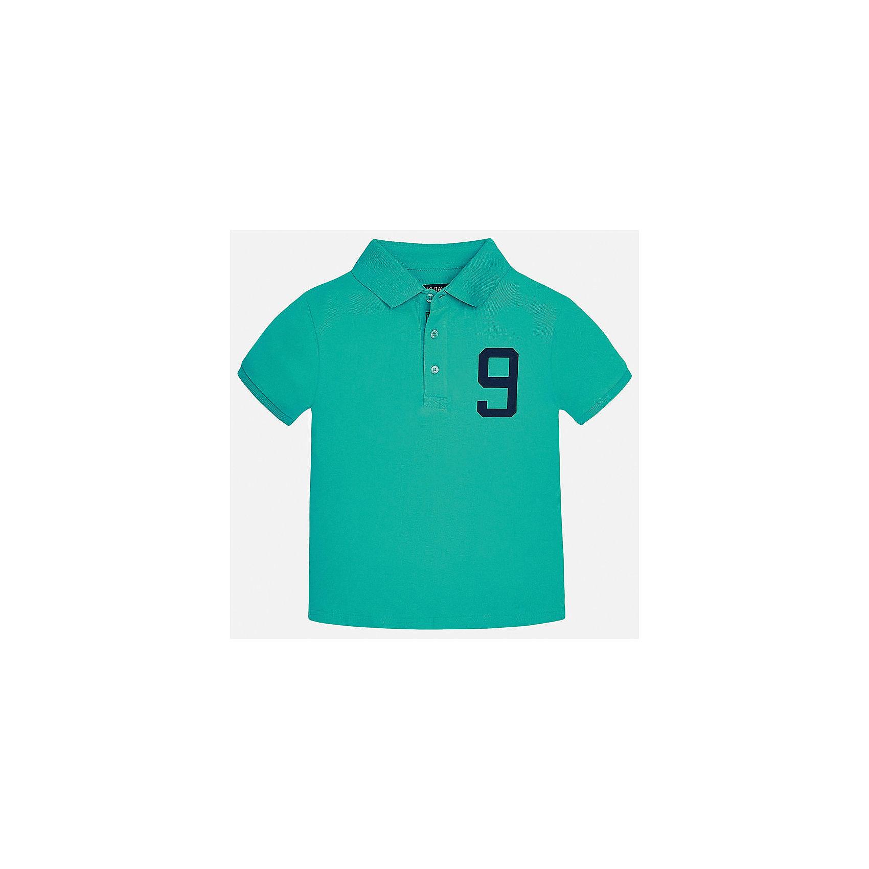 Футболка-поло для мальчика MayoralФутболки, поло и топы<br>Характеристики товара:<br><br>• цвет: зеленый<br>• состав: 95% хлопок, 5% эластан<br>• отложной воротник<br>• декорирована принтом<br>• короткие рукава<br>• застежки: пуговицы<br>• страна бренда: Испания<br><br>Модная футболка-поло поможет разнообразить гардероб мальчика. Она отлично сочетается с брюками, шортами, джинсами. Универсальный крой и цвет позволяет подобрать к вещи низ разных расцветок. Практичное и стильное изделие! Хорошо смотрится и комфортно сидит на детях. В составе материала - только натуральный хлопок, гипоаллергенный, приятный на ощупь, дышащий.<br><br>Одежда, обувь и аксессуары от испанского бренда Mayoral полюбились детям и взрослым по всему миру. Модели этой марки - стильные и удобные. Для их производства используются только безопасные, качественные материалы и фурнитура. Порадуйте ребенка модными и красивыми вещами от Mayoral! <br><br>Футболку-поло для мальчика от испанского бренда Mayoral (Майорал) можно купить в нашем интернет-магазине.<br><br>Ширина мм: 199<br>Глубина мм: 10<br>Высота мм: 161<br>Вес г: 151<br>Цвет: зеленый<br>Возраст от месяцев: 96<br>Возраст до месяцев: 108<br>Пол: Мужской<br>Возраст: Детский<br>Размер: 140,128/134,158,164,170,152<br>SKU: 5281547