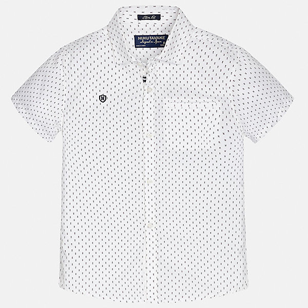 Рубашка для мальчика MayoralОдежда<br>Характеристики товара:<br><br>• цвет: белый<br>• состав: 100% хлопок<br>• отложной воротник<br>• декорирована вышивкой и карманом на груди<br>• короткие рукава<br>• застежки: пуговицы<br>• страна бренда: Испания<br><br>Модная рубашка поможет разнообразить гардероб мальчика. Она отлично сочетается с брюками, шортами, джинсами. Универсальный крой и цвет позволяет подобрать к вещи низ разных расцветок. Практичное и стильное изделие! Хорошо смотрится и комфортно сидит на детях. В составе материала - только натуральный хлопок, гипоаллергенный, приятный на ощупь, дышащий. <br><br>Одежда, обувь и аксессуары от испанского бренда Mayoral полюбились детям и взрослым по всему миру. Модели этой марки - стильные и удобные. Для их производства используются только безопасные, качественные материалы и фурнитура. Порадуйте ребенка модными и красивыми вещами от Mayoral! <br><br>Рубашку для мальчика от испанского бренда Mayoral (Майорал) можно купить в нашем интернет-магазине.<br><br>Ширина мм: 174<br>Глубина мм: 10<br>Высота мм: 169<br>Вес г: 157<br>Цвет: белый<br>Возраст от месяцев: 84<br>Возраст до месяцев: 96<br>Пол: Мужской<br>Возраст: Детский<br>Размер: 128/134,164,152,170,158,140<br>SKU: 5281575