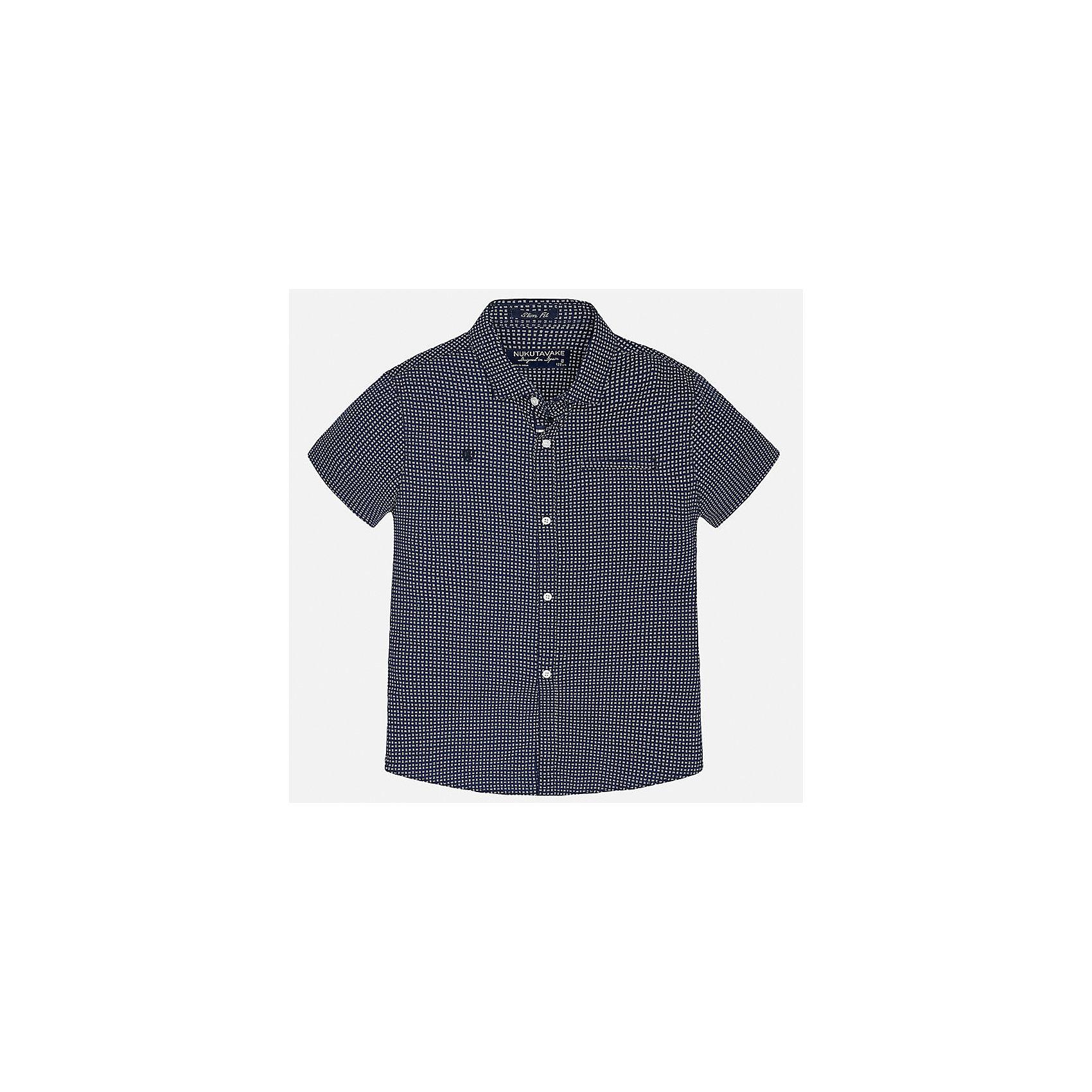Рубашка для мальчика MayoralБлузки и рубашки<br>Характеристики товара:<br><br>• цвет: синий<br>• состав: 100% хлопок<br>• отложной воротник<br>• декорирована вышивкой и карманом на груди<br>• короткие рукава<br>• застежки: пуговицы<br>• страна бренда: Испания<br><br>Модная рубашка поможет разнообразить гардероб мальчика. Она отлично сочетается с брюками, шортами, джинсами. Универсальный крой и цвет позволяет подобрать к вещи низ разных расцветок. Практичное и стильное изделие! Хорошо смотрится и комфортно сидит на детях. В составе материала - только натуральный хлопок, гипоаллергенный, приятный на ощупь, дышащий. <br><br>Одежда, обувь и аксессуары от испанского бренда Mayoral полюбились детям и взрослым по всему миру. Модели этой марки - стильные и удобные. Для их производства используются только безопасные, качественные материалы и фурнитура. Порадуйте ребенка модными и красивыми вещами от Mayoral! <br><br>Рубашку для мальчика от испанского бренда Mayoral (Майорал) можно купить в нашем интернет-магазине.<br><br>Ширина мм: 174<br>Глубина мм: 10<br>Высота мм: 169<br>Вес г: 157<br>Цвет: синий<br>Возраст от месяцев: 156<br>Возраст до месяцев: 168<br>Пол: Мужской<br>Возраст: Детский<br>Размер: 170,128/134,164,140,152,158<br>SKU: 5281582