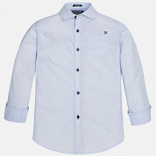 Рубашка для мальчика MayoralБлузки и рубашки<br>Характеристики товара:<br><br>• цвет: голубой<br>• состав: 100% хлопок<br>• отложной воротник<br>• декорирована карманом на груди<br>• рукава с отворотами<br>• застежки: пуговицы<br>• страна бренда: Испания<br><br>Модная рубашка поможет разнообразить гардероб мальчика. Она отлично сочетается с брюками, шортами, джинсами. Универсальный крой и цвет позволяет подобрать к вещи низ разных расцветок. Практичное и стильное изделие! Хорошо смотрится и комфортно сидит на детях. В составе материала - только натуральный хлопок, гипоаллергенный, приятный на ощупь, дышащий. <br><br>Одежда, обувь и аксессуары от испанского бренда Mayoral полюбились детям и взрослым по всему миру. Модели этой марки - стильные и удобные. Для их производства используются только безопасные, качественные материалы и фурнитура. Порадуйте ребенка модными и красивыми вещами от Mayoral! <br><br>Рубашку для мальчика от испанского бренда Mayoral (Майорал) можно купить в нашем интернет-магазине.<br><br>Ширина мм: 174<br>Глубина мм: 10<br>Высота мм: 169<br>Вес г: 157<br>Цвет: голубой<br>Возраст от месяцев: 120<br>Возраст до месяцев: 132<br>Пол: Мужской<br>Возраст: Детский<br>Размер: 152,158,164,140,170,128/134<br>SKU: 5281659