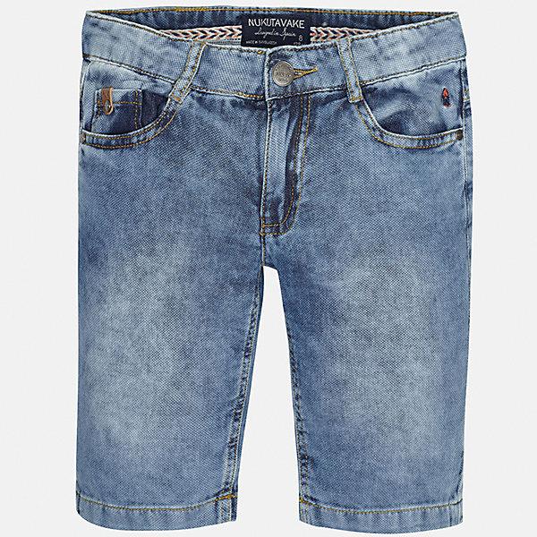 Шорты джинсовые для мальчика MayoralДжинсовая одежда<br>Характеристики товара:<br><br>• цвет: голубой<br>• состав: 100% хлопок<br>• шлевки<br>• карманы<br>• пояс с регулировкой объема<br>• имитация потертостей<br>• страна бренда: Испания<br><br>Стильные шорты для мальчика смогут стать базовой вещью в гардеробе ребенка. Они отлично сочетаются с майками, футболками, рубашками и т.д. Универсальный крой и цвет позволяет подобрать к вещи верх разных расцветок. Практичное и стильное изделие! В составе материала - только натуральный хлопок, гипоаллергенный, приятный на ощупь, дышащий.<br><br>Одежда, обувь и аксессуары от испанского бренда Mayoral полюбились детям и взрослым по всему миру. Модели этой марки - стильные и удобные. Для их производства используются только безопасные, качественные материалы и фурнитура. Порадуйте ребенка модными и красивыми вещами от Mayoral! <br><br>Шорты для мальчика от испанского бренда Mayoral (Майорал) можно купить в нашем интернет-магазине.<br><br>Ширина мм: 191<br>Глубина мм: 10<br>Высота мм: 175<br>Вес г: 273<br>Цвет: голубой<br>Возраст от месяцев: 84<br>Возраст до месяцев: 96<br>Пол: Мужской<br>Возраст: Детский<br>Размер: 128/134,164,158,170,152,140<br>SKU: 5281708