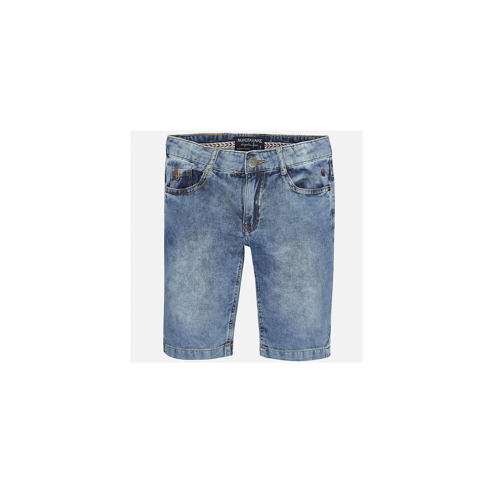 Шорты джинсовые для мальчика MayoralХарактеристики товара:<br><br>• цвет: голубой<br>• состав: 100% хлопок<br>• шлевки<br>• карманы<br>• пояс с регулировкой объема<br>• имитация потертостей<br>• страна бренда: Испания<br><br>Стильные шорты для мальчика смогут стать базовой вещью в гардеробе ребенка. Они отлично сочетаются с майками, футболками, рубашками и т.д. Универсальный крой и цвет позволяет подобрать к вещи верх разных расцветок. Практичное и стильное изделие! В составе материала - только натуральный хлопок, гипоаллергенный, приятный на ощупь, дышащий.<br><br>Одежда, обувь и аксессуары от испанского бренда Mayoral полюбились детям и взрослым по всему миру. Модели этой марки - стильные и удобные. Для их производства используются только безопасные, качественные материалы и фурнитура. Порадуйте ребенка модными и красивыми вещами от Mayoral! <br><br>Шорты для мальчика от испанского бренда Mayoral (Майорал) можно купить в нашем интернет-магазине.<br><br>Ширина мм: 191<br>Глубина мм: 10<br>Высота мм: 175<br>Вес г: 273<br>Цвет: голубой<br>Возраст от месяцев: 84<br>Возраст до месяцев: 96<br>Пол: Мужской<br>Возраст: Детский<br>Размер: 128/134,170,164,158,152,140<br>SKU: 5281708