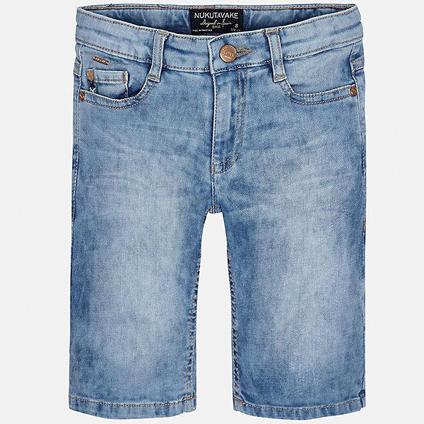 Шорты джинсовые для мальчика MayoralШорты, бриджи, капри<br>Характеристики товара:<br><br>• цвет: голубой<br>• состав: 97% хлопок, 3% эластан<br>• шлевки<br>• карманы<br>• пояс с регулировкой объема<br>• имитация потертостей<br>• страна бренда: Испания<br><br>Стильные шорты для мальчика смогут стать базовой вещью в гардеробе ребенка. Они отлично сочетаются с майками, футболками, рубашками и т.д. Универсальный крой и цвет позволяет подобрать к вещи верх разных расцветок. Практичное и стильное изделие! В составе материала - натуральный хлопок, гипоаллергенный, приятный на ощупь, дышащий.<br><br>Одежда, обувь и аксессуары от испанского бренда Mayoral полюбились детям и взрослым по всему миру. Модели этой марки - стильные и удобные. Для их производства используются только безопасные, качественные материалы и фурнитура. Порадуйте ребенка модными и красивыми вещами от Mayoral! <br><br>Шорты для мальчика от испанского бренда Mayoral (Майорал) можно купить в нашем интернет-магазине.<br>Ширина мм: 191; Глубина мм: 10; Высота мм: 175; Вес г: 273; Цвет: синий; Возраст от месяцев: 96; Возраст до месяцев: 108; Пол: Мужской; Возраст: Детский; Размер: 170,128/134,152,158,164,140; SKU: 5281729;