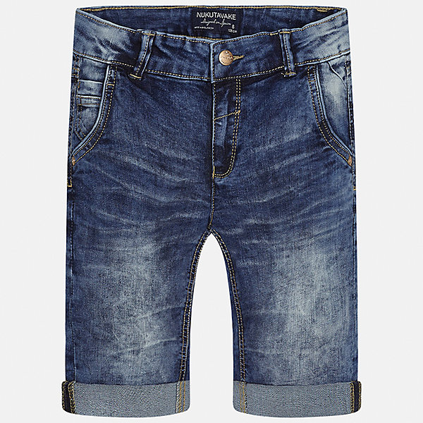 Бриджи джинсовые для мальчика MayoralДжинсовая одежда<br>Характеристики товара:<br><br>• цвет: синий<br>• состав: 76% хлопок, 22% полиэстер, 2% эластан<br>• шлевки<br>• карманы<br>• пояс с регулировкой объема<br>• отвороты<br>• страна бренда: Испания<br><br>Стильные бриджи для мальчика смогут стать базовой вещью в гардеробе ребенка. Они отлично сочетаются с майками, футболками, рубашками и т.д. Универсальный крой и цвет позволяет подобрать к вещи верх разных расцветок. Практичное и стильное изделие! В составе материала - натуральный хлопок, гипоаллергенный, приятный на ощупь, дышащий.<br><br>Одежда, обувь и аксессуары от испанского бренда Mayoral полюбились детям и взрослым по всему миру. Модели этой марки - стильные и удобные. Для их производства используются только безопасные, качественные материалы и фурнитура. Порадуйте ребенка модными и красивыми вещами от Mayoral! <br><br>Бриджи для мальчика от испанского бренда Mayoral (Майорал) можно купить в нашем интернет-магазине.<br>Ширина мм: 191; Глубина мм: 10; Высота мм: 175; Вес г: 273; Цвет: синий; Возраст от месяцев: 96; Возраст до месяцев: 108; Пол: Мужской; Возраст: Детский; Размер: 140,170,128/134,152,158,164; SKU: 5281755;