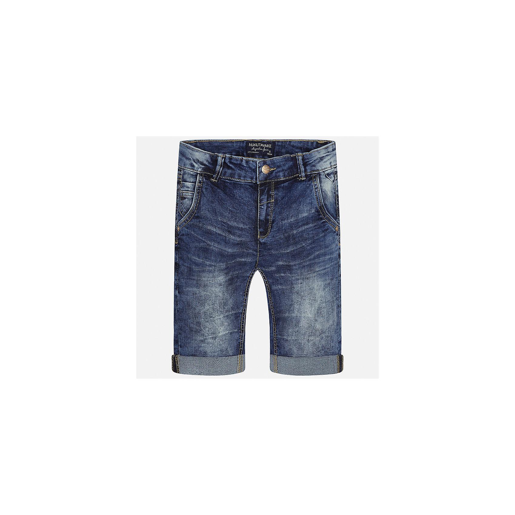 Бриджи джинсовые для мальчика MayoralШорты, бриджи, капри<br>Характеристики товара:<br><br>• цвет: синий<br>• состав: 76% хлопок, 22% полиэстер, 2% эластан<br>• шлевки<br>• карманы<br>• пояс с регулировкой объема<br>• отвороты<br>• страна бренда: Испания<br><br>Стильные бриджи для мальчика смогут стать базовой вещью в гардеробе ребенка. Они отлично сочетаются с майками, футболками, рубашками и т.д. Универсальный крой и цвет позволяет подобрать к вещи верх разных расцветок. Практичное и стильное изделие! В составе материала - натуральный хлопок, гипоаллергенный, приятный на ощупь, дышащий.<br><br>Одежда, обувь и аксессуары от испанского бренда Mayoral полюбились детям и взрослым по всему миру. Модели этой марки - стильные и удобные. Для их производства используются только безопасные, качественные материалы и фурнитура. Порадуйте ребенка модными и красивыми вещами от Mayoral! <br><br>Бриджи для мальчика от испанского бренда Mayoral (Майорал) можно купить в нашем интернет-магазине.<br><br>Ширина мм: 191<br>Глубина мм: 10<br>Высота мм: 175<br>Вес г: 273<br>Цвет: синий<br>Возраст от месяцев: 84<br>Возраст до месяцев: 96<br>Пол: Мужской<br>Возраст: Детский<br>Размер: 128/134,170,164,158,152,140<br>SKU: 5281755