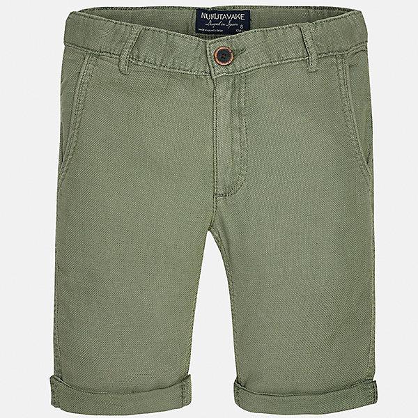 Бриджи для мальчика MayoralШорты, бриджи, капри<br>Характеристики товара:<br><br>• цвет: зеленый<br>• состав: 100% хлопок<br>• шлевки<br>• карманы<br>• пояс с регулировкой объема<br>• средняя длина<br>• страна бренда: Испания<br><br>Стильные шорты для мальчика смогут стать базовой вещью в гардеробе ребенка. Они отлично сочетаются с майками, футболками, рубашками и т.д. Универсальный крой и цвет позволяет подобрать к вещи верх разных расцветок. Практичное и стильное изделие! В составе материала - натуральный хлопок, гипоаллергенный, приятный на ощупь, дышащий.<br><br>Одежда, обувь и аксессуары от испанского бренда Mayoral полюбились детям и взрослым по всему миру. Модели этой марки - стильные и удобные. Для их производства используются только безопасные, качественные материалы и фурнитура. Порадуйте ребенка модными и красивыми вещами от Mayoral! <br><br>Шорты для мальчика от испанского бренда Mayoral (Майорал) можно купить в нашем интернет-магазине.<br>Ширина мм: 191; Глубина мм: 10; Высота мм: 175; Вес г: 273; Цвет: зеленый; Возраст от месяцев: 144; Возраст до месяцев: 156; Пол: Мужской; Возраст: Детский; Размер: 164,128/134,170,158,152,140; SKU: 5281769;