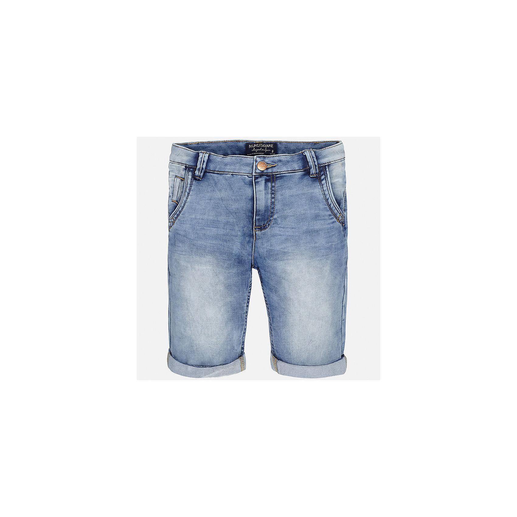 Бриджи джинсовые для мальчика MayoralШорты, бриджи, капри<br>Характеристики товара:<br><br>• цвет: голубой<br>• состав: 52% хлопок, 47% полиэстер, 1% эластан<br>• шлевки<br>• карманы<br>• пояс с регулировкой объема<br>• отвороты<br>• страна бренда: Испания<br><br>Стильные шорты для мальчика смогут стать базовой вещью в гардеробе ребенка. Они отлично сочетаются с майками, футболками, рубашками и т.д. Универсальный крой и цвет позволяет подобрать к вещи верх разных расцветок. Практичное и стильное изделие! В составе материала - натуральный хлопок, гипоаллергенный, приятный на ощупь, дышащий.<br><br>Одежда, обувь и аксессуары от испанского бренда Mayoral полюбились детям и взрослым по всему миру. Модели этой марки - стильные и удобные. Для их производства используются только безопасные, качественные материалы и фурнитура. Порадуйте ребенка модными и красивыми вещами от Mayoral! <br><br>Шорты для мальчика от испанского бренда Mayoral (Майорал) можно купить в нашем интернет-магазине.<br><br>Ширина мм: 191<br>Глубина мм: 10<br>Высота мм: 175<br>Вес г: 273<br>Цвет: синий<br>Возраст от месяцев: 156<br>Возраст до месяцев: 168<br>Пол: Мужской<br>Возраст: Детский<br>Размер: 170,128/134,140,152,158,164<br>SKU: 5281790