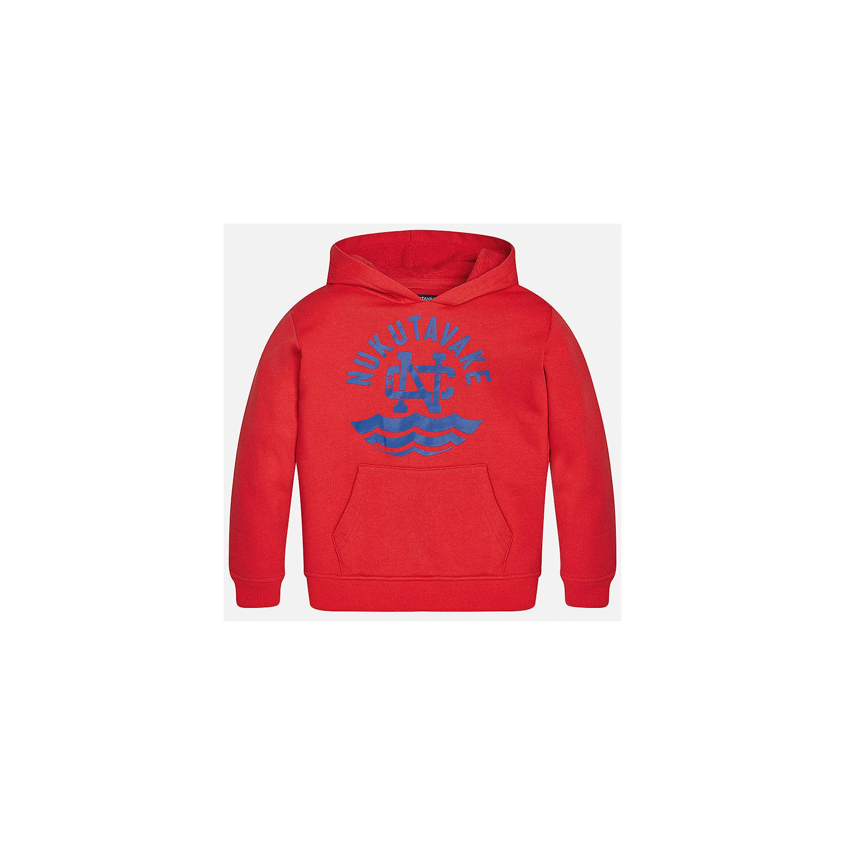 Толстовка для мальчика MayoralТолстовки<br>Характеристики товара:<br><br>• цвет: красный<br>• состав: 60% хлопок, 4л% полиэстер<br>• рукава длинные <br>• принт<br>• капюшон<br>• манжеты<br>• страна бренда: Испания<br><br>Удобный и красивый свитер для мальчика поможет разнообразить гардероб ребенка и обеспечить тепло. Он отлично сочетается и с джинсами, и с брюками. Универсальный цвет позволяет подобрать к вещи низ различных расцветок. Интересная отделка модели делает её нарядной и оригинальной. В составе материала - натуральный хлопок, гипоаллергенный, приятный на ощупь, дышащий.<br><br>Одежда, обувь и аксессуары от испанского бренда Mayoral полюбились детям и взрослым по всему миру. Модели этой марки - стильные и удобные. Для их производства используются только безопасные, качественные материалы и фурнитура. Порадуйте ребенка модными и красивыми вещами от Mayoral! <br><br>Свитер для мальчика от испанского бренда Mayoral (Майорал) можно купить в нашем интернет-магазине.<br><br>Ширина мм: 190<br>Глубина мм: 74<br>Высота мм: 229<br>Вес г: 236<br>Цвет: розовый<br>Возраст от месяцев: 144<br>Возраст до месяцев: 156<br>Пол: Мужской<br>Возраст: Детский<br>Размер: 164,152,140,128/134,158,170<br>SKU: 5281867