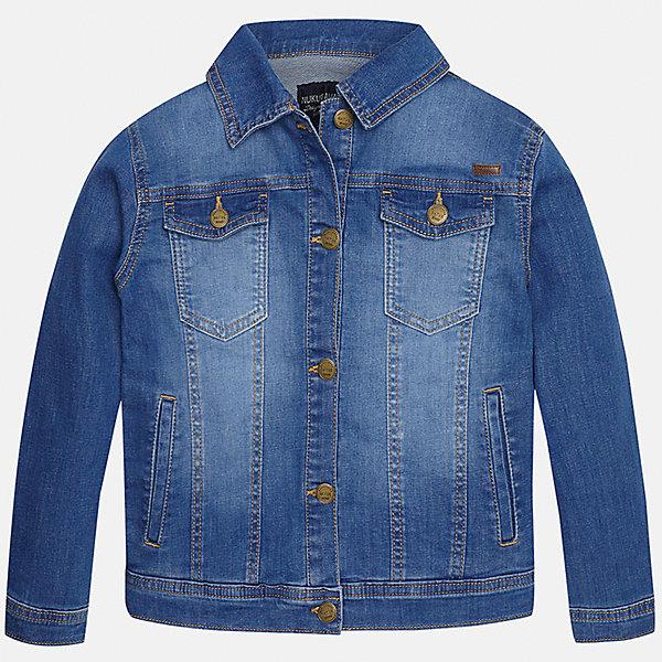 Куртка джинсовая для мальчика MayoralДжинсовая одежда<br>Характеристики товара:<br><br>• цвет: голубой<br>• состав: 97% хлопок, 3% эластан<br>• отложной воротник<br>• карманы<br>• застежка: пуговицы<br>• эффект потертостей<br>• страна бренда: Испания<br><br>Джинсовая куртка для мальчика может стать базовой вещью в гардеробе ребенка. Она отлично сочетается с майками, футболками, рубашками и т.д. Универсальный крой и цвет позволяет подобрать к вещи низ разных расцветок. Практичное и стильное изделие! В составе материала - натуральный хлопок, гипоаллергенный, приятный на ощупь, дышащий.<br><br>Одежда, обувь и аксессуары от испанского бренда Mayoral полюбились детям и взрослым по всему миру. Модели этой марки - стильные и удобные. Для их производства используются только безопасные, качественные материалы и фурнитура. Порадуйте ребенка модными и красивыми вещами от Mayoral! <br><br>Куртку для мальчика от испанского бренда Mayoral (Майорал) можно купить в нашем интернет-магазине.<br><br>Ширина мм: 356<br>Глубина мм: 10<br>Высота мм: 245<br>Вес г: 519<br>Цвет: голубой<br>Возраст от месяцев: 84<br>Возраст до месяцев: 96<br>Пол: Мужской<br>Возраст: Детский<br>Размер: 128/134,170,140,152,158,164<br>SKU: 5281895