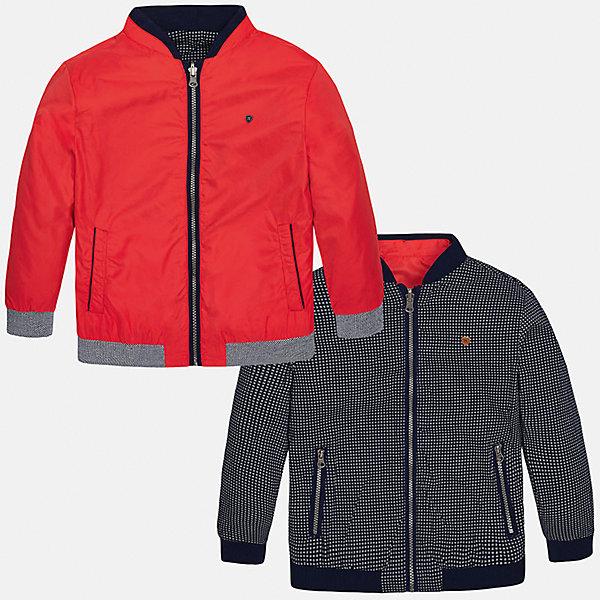 Ветровка двухсторонняя для мальчика MayoralВерхняя одежда<br>Характеристики товара:<br><br>• цвет: красный/синий<br>• состав: 100% полиэстер, подкладка - 100% хлопок<br>• двусторонняя<br>• карманы<br>• молния<br>• манжеты<br>• страна бренда: Испания<br><br>Легкая куртка для мальчика поможет разнообразить гардероб ребенка и обеспечить тепло в прохладную погоду. Эта ветровка - два в одном: стоит её вывернуть - и появляется еще одна курточка другой расцветки. Она отлично сочетается и с джинсами, и с брюками. Универсальный цвет позволяет подобрать к вещи низ различных расцветок. Интересная отделка модели делает её нарядной и оригинальной. <br><br>Одежда, обувь и аксессуары от испанского бренда Mayoral полюбились детям и взрослым по всему миру. Модели этой марки - стильные и удобные. Для их производства используются только безопасные, качественные материалы и фурнитура. Порадуйте ребенка модными и красивыми вещами от Mayoral! <br><br>Ветровку для мальчика от испанского бренда Mayoral (Майорал) можно купить в нашем интернет-магазине.<br><br>Ширина мм: 356<br>Глубина мм: 10<br>Высота мм: 245<br>Вес г: 519<br>Цвет: красный<br>Возраст от месяцев: 120<br>Возраст до месяцев: 132<br>Пол: Мужской<br>Возраст: Детский<br>Размер: 152,128/134,140,158,164,170<br>SKU: 5281968