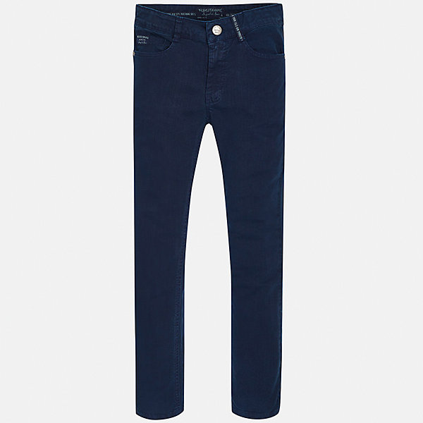 Брюки для мальчика MayoralДжинсовая одежда<br>Характеристики товара:<br><br>• цвет: синий<br>• состав: 98% хлопок, 2% эластан<br>• шлевки<br>• карманы<br>• пояс с регулировкой объема<br>• классический силуэт<br>• страна бренда: Испания<br><br>Стильные брюки классического кроя для мальчика могут стать базовой вещью в гардеробе ребенка. Они отлично сочетаются с рубашками, футболками, куртками и т.д. Универсальный крой и цвет позволяет подобрать к вещи верх разных расцветок. Практичное и стильное изделие! В составе материала - натуральный хлопок, гипоаллергенный, приятный на ощупь, дышащий.<br><br>Одежда, обувь и аксессуары от испанского бренда Mayoral полюбились детям и взрослым по всему миру. Модели этой марки - стильные и удобные. Для их производства используются только безопасные, качественные материалы и фурнитура. Порадуйте ребенка модными и красивыми вещами от Mayoral! <br><br>Брюки для мальчика от испанского бренда Mayoral (Майорал) можно купить в нашем интернет-магазине.<br><br>Ширина мм: 215<br>Глубина мм: 88<br>Высота мм: 191<br>Вес г: 336<br>Цвет: синий<br>Возраст от месяцев: 84<br>Возраст до месяцев: 96<br>Пол: Мужской<br>Возраст: Детский<br>Размер: 128/134,158,170,164,152,140<br>SKU: 5282017