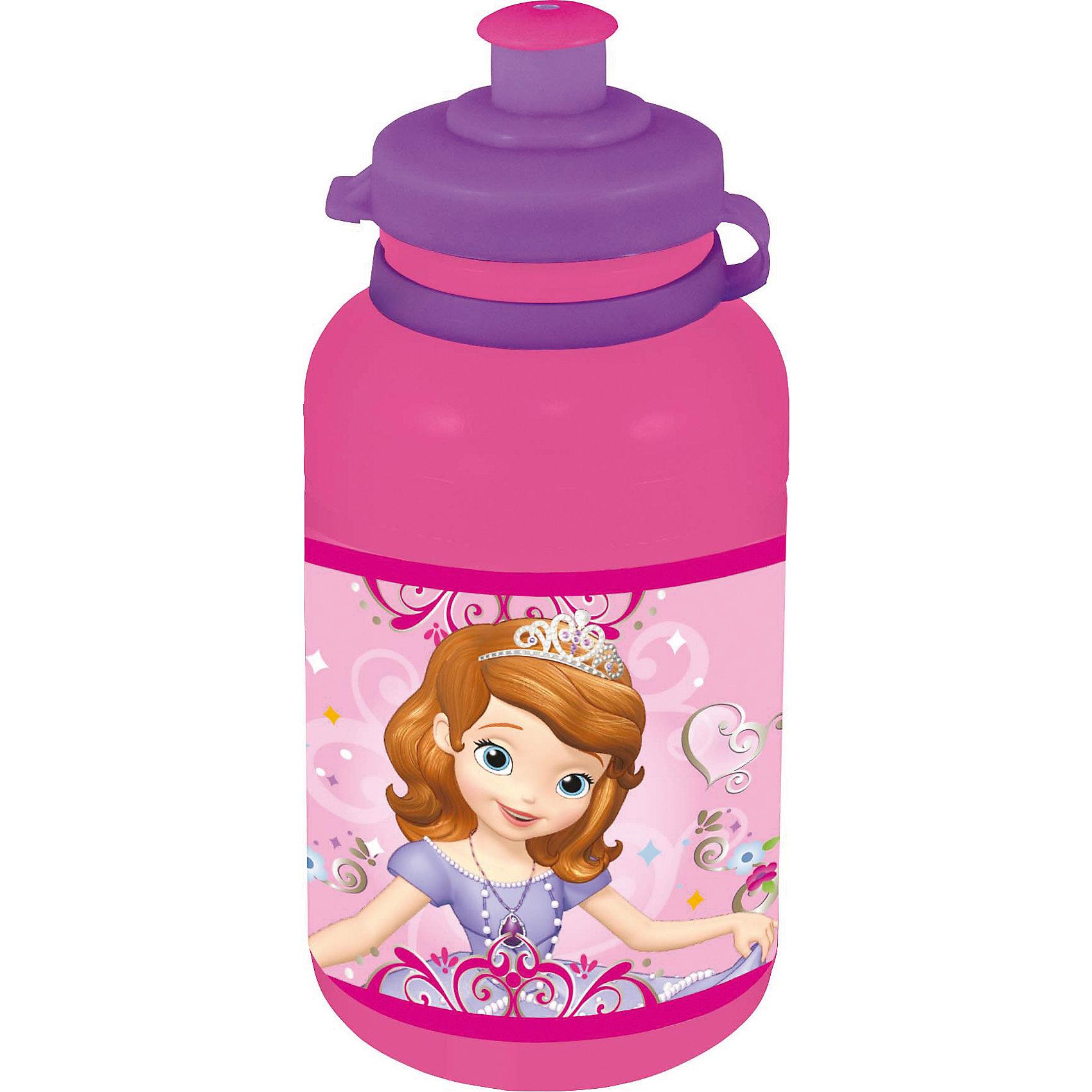 Бутылка пластиковая Принцесса София 400 млХарактеристики товара:<br><br>• материал: пластик<br>• украшена рисунком<br>• размер: 6,5х6,5х15 см<br>• вес: 40 г<br>• объем: 400 мл<br>• страна бренда: Испания<br>• страна производства: Китай<br><br>Такая бутылка станет отличным подарком для ребенка! Она отличается тем, что на предмете изображены персонажи из мультфильма Принцесса София. Есть или пить из предметов с любимым героем многих современных детей - всегда приятнее. Бутылочка очень удобна, объем оптимален для детей, сюда как раз вместится необходимый для одной тренировки объем воды. Плюс - изделие дополнено специальной крышкой. Использовать его можно и в школе, и на улице!<br>Бутылка выпущена в удобном формате, размер - универсальный. Изделие производится из качественных и проверенных материалов, которые безопасны для детей.<br><br>Бутылку пластиковую Принцесса София 400 мл можно купить в нашем интернет-магазине.<br><br>Ширина мм: 65<br>Глубина мм: 65<br>Высота мм: 150<br>Вес г: 40<br>Возраст от месяцев: 36<br>Возраст до месяцев: 108<br>Пол: Женский<br>Возраст: Детский<br>SKU: 5282072