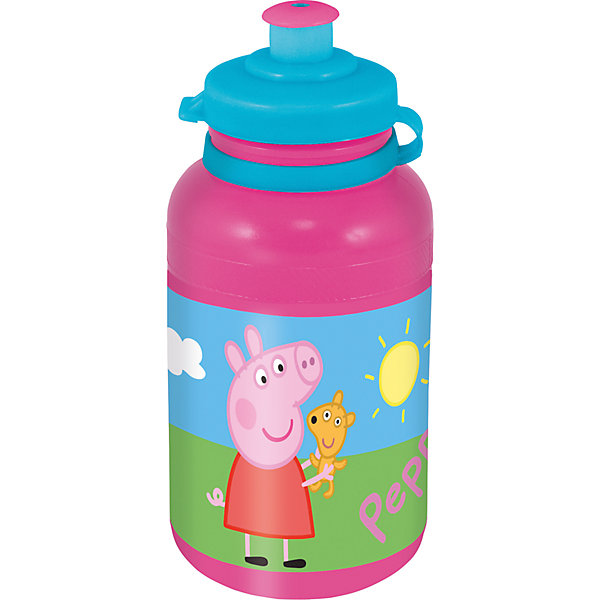 Бутылка пластиковая Свинка Пеппа 400 млСвинка Пеппа<br>Характеристики товара:<br><br>• материал: пластик<br>• украшена рисунком<br>• размер: 6,5х6,5х15 см<br>• вес: 40 г<br>• объем: 400 мл<br>• страна бренда: Испания<br>• страна производства: Китай<br><br>Такая бутылка станет отличным подарком для ребенка! Она отличается тем, что на предмете изображены персонажи из мультфильма Свинка Пеппа. Есть или пить из предметов с любимым героем многих современных детей - всегда приятнее. Бутылочка очень удобна, объем оптимален для детей, сюда как раз вместится необходимый для одной тренировки объем воды. Плюс - изделие дополнено специальной крышкой. Использовать его можно и в школе, и на улице!<br>Бутылка выпущена в удобном формате, размер - универсальный. Изделие производится из качественных и проверенных материалов, которые безопасны для детей.<br><br>Бутылку пластиковую Свинка Пеппа 400 мл можно купить в нашем интернет-магазине.<br><br>Ширина мм: 65<br>Глубина мм: 65<br>Высота мм: 150<br>Вес г: 40<br>Возраст от месяцев: 36<br>Возраст до месяцев: 108<br>Пол: Женский<br>Возраст: Детский<br>SKU: 5282073