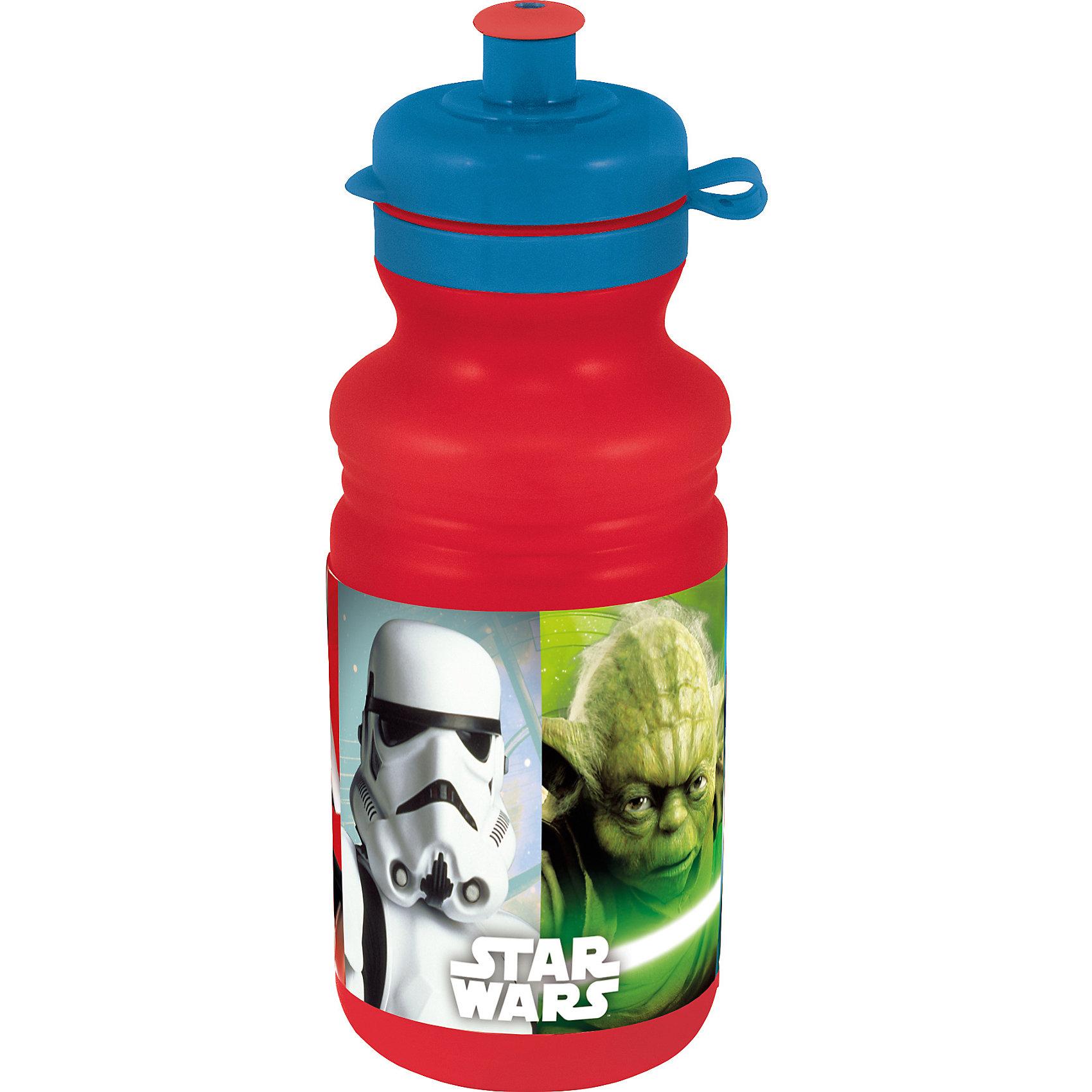 Бутылка пластиковая Звёздные войны 500 млДетская посуда<br>Характеристики товара:<br><br>• материал: пластик<br>• украшена рисунком<br>• размер: 6,5х6,5х15 см<br>• вес: 40 г<br>• объем: 500 мл<br>• страна бренда: Испания<br>• страна производства: Китай<br><br>Такая бутылка станет отличным подарком для ребенка! Она отличается тем, что на предмете изображены персонажи из фильма Звёздные войны. Есть или пить из предметов с любимым героем многих современных детей - всегда приятнее. Бутылочка очень удобна, объем оптимален для детей, сюда как раз вместится необходимый для одной тренировки объем воды. Плюс - изделие дополнено специальной крышкой. Использовать его можно и в школе, и на улице!<br>Бутылка выпущена в удобном формате, размер - универсальный. Изделие производится из качественных и проверенных материалов, которые безопасны для детей.<br><br>Бутылку пластиковую Звёздные войны 500 мл можно купить в нашем интернет-магазине.<br><br>Ширина мм: 65<br>Глубина мм: 65<br>Высота мм: 150<br>Вес г: 40<br>Возраст от месяцев: 36<br>Возраст до месяцев: 168<br>Пол: Мужской<br>Возраст: Детский<br>SKU: 5282077