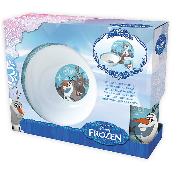 Набор керамической посуды Холодное сердце: Олаф и Свен (3 предмета)Детская посуда<br>Характеристики товара:<br><br>• материал: керамика<br>• комплектация: кружка, тарелка, миска<br>• украшен рисунком<br>• размер упаковки: 25х9х20 см<br>• упаковка: коробка<br>• вес: 964 г<br>• для продуктов питания<br>• страна производства: Китай<br><br>Такой набор посуды станет отличным подарком для ребенка! Она отличается тем, что на предметах изображены известные герои мультфильма Тайная жизнь домашних животных. Есть из предметов с любимым героем многих современных детей - всегда приятнее. Набор очень удобен, объем оптимален для детей, сюда как раз вместится детский обед. Набор продается в красивой подарочной упаковке.<br>Посуда выпущена в удобном формате, размер - универсальный. Изделия производятся из качественных и проверенных материалов, которые безопасны для детей.<br><br>Набор керамической посуды Холодное сердце: Олаф и Свен (3 предмета) можно купить в нашем интернет-магазине.<br><br>Ширина мм: 250<br>Глубина мм: 87<br>Высота мм: 197<br>Вес г: 964<br>Возраст от месяцев: 36<br>Возраст до месяцев: 144<br>Пол: Женский<br>Возраст: Детский<br>SKU: 5282083