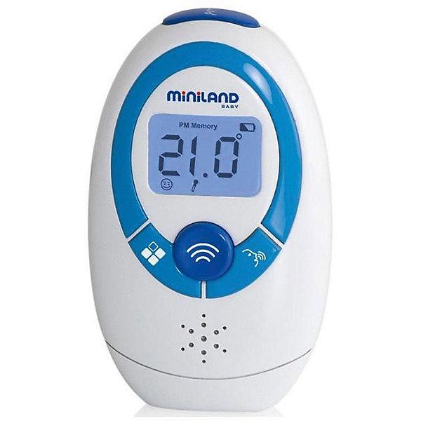 Бесконтактный термометр Thermoadvanced Plus, MinilandТермометры<br>Характеристики термометра Thermoadvanced Plus:<br><br>- цифровой жк-дисплей<br>- голосовое воспроизведение информации на 6 языках, в том числе и на русском<br>- беззвучный режим<br>- часы и календарь<br>- автоматическое отключение через 3 минуты – экономный режим питания <br>- сигнал разряда батареи<br>- компактный, удобный мешочек для хранения в комплекте<br>- размер (bхшхг): 89 х 53 х 35 мм<br>- вес: 56 г (без батареек)<br>Комплектация:<br>- 1 инфракрасный термометр с голосовой функцией <br>- 1 сумка для хранения и перевозки <br>- 2 батарейки AAA <br>- 1 инструкция и гарантия <br><br>Многофункциональный бесконтактный термометр от торговой компании Miniland с функцией передачи данных на Ваш смартфон при помощи бесплатного приложения eMyBaby для телефонов и планшетов Современный термометр Thermoadvanced Plus измеряет температуру с помощью инфракрасной технологии, с минимальным воздействием на ребенка. Он легко, быстро, а главное - точно измерит температуру тела, а также температуру детского молока, воды в ванночке, детского питания и т.д.<br>Имеется функция предупреждения о повышенной температуре тела или жидкости. Устройство хранит информацию о 9 последних измерения (температура - дата - что измерялось).<br><br>Бесконтактный термометр Thermoadvanced Plus, торговой марки Miniland можно купить в нашем интернет-магазине.<br><br>Ширина мм: 890<br>Глубина мм: 530<br>Высота мм: 350<br>Вес г: 560<br>Возраст от месяцев: 0<br>Возраст до месяцев: 36<br>Пол: Унисекс<br>Возраст: Детский<br>SKU: 5282092