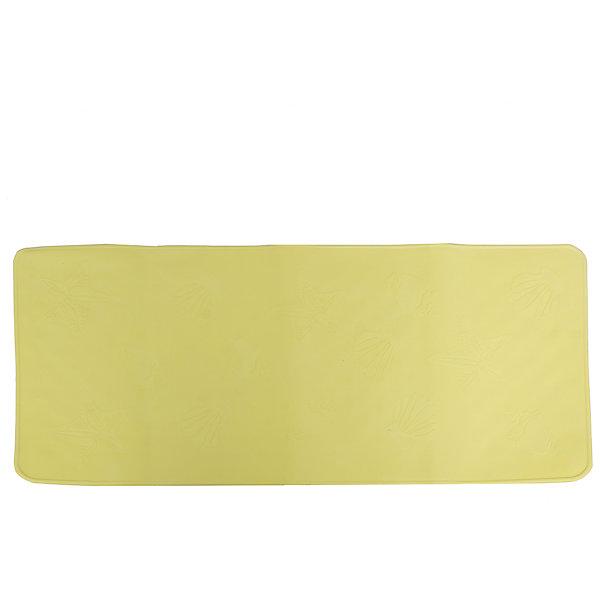 Антискользящий коврик для ванной, Roxy-Kids, салатовыйДетские коврики для ванны<br>Антискользящий коврик для ванны, Roxy-Kids<br>Противоскользящие коврики для ванны созданы специально для детей и призваны обеспечить комфортное и безопасное купание малышей в ванне. Они обладают целым рядом важных преимуществ:<br>- мягкие присоски надежно прикрепляют коврик ко дну ванны и не дают ему скользить по ванне, как бы активно ни двигался малыш; <br>- специальное покрытие препятствует скольжению ног или тела ребенка по коврику; <br>- поверхность коврика имеет рельефные элементы, обеспечивающие массажные функции, благодаря которым, купание малыша в ванне станет не только простым и безопасным, но еще и полезным.<br>Дополнительная информация:<br>- размеры 34х74 см.;<br>- сделаны из 100% натуральной резины без применения токсичного сырья.<br><br>Антискользящий  коврик для ванны можно купить в нашем интернет-магазине.<br><br>Ширина мм: 340<br>Глубина мм: 740<br>Высота мм: 10<br>Вес г: 300<br>Возраст от месяцев: 6<br>Возраст до месяцев: 84<br>Пол: Унисекс<br>Возраст: Детский<br>SKU: 5282140