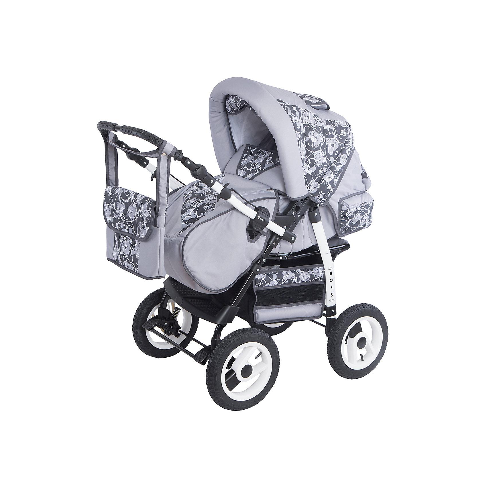 Коляска-трансформер Ross, Marimex, серый/графит с принтомХарактеристики товара:<br><br>• цвет: серый<br>• материал: металл, текстиль, пластик<br>• размер в разложенном виде: 110х60х119 см<br>• комплектация: люлька-переноска, накидка на ножки, сумка для мамы <br>• вес: 16 кг<br>• тип складывания: книжка <br>• колеса: 4 шт<br>• пятиточечные ремни безопасности<br>• солнцезащитный козырек<br>• четыре положения спинки<br>• возможность перекидывать ручку <br>• регулируемая подножка<br>• большая корзина для покупок<br>• система амортизации: пружины <br>• страна бренда: Польша<br>• страна производства: Польша<br><br>ВНИМАНИЕ!!! Вставки с рисунком на коляске могут отличаться от представленных на фото!<br><br>Качественная коляска обеспечит родителям и ребенку удобство при прогулках и перемещениях малыша. Эта модель от польского производителя Marimex оборудована всем необходимым для комфорта. Она легко трансформирвуется под различные ситуации, имеет специальную люльку-переноску для самых маленьких.<br>В основе коляски - прочный металлический корпус, материал имеет специальную пропитку, которая защищает про промокания, но при этом оставляет ткань дышащей. Очень стильная и удобная модель! Изделие качественно выполнено, сделано из безопасных для детей материалов. <br><br>Коляску-трансформер Ross от бренда Marimex можно купить в нашем интернет-магазине.<br><br>Ширина мм: 900<br>Глубина мм: 450<br>Высота мм: 380<br>Вес г: 15700<br>Возраст от месяцев: 0<br>Возраст до месяцев: 36<br>Пол: Унисекс<br>Возраст: Детский<br>SKU: 5282606