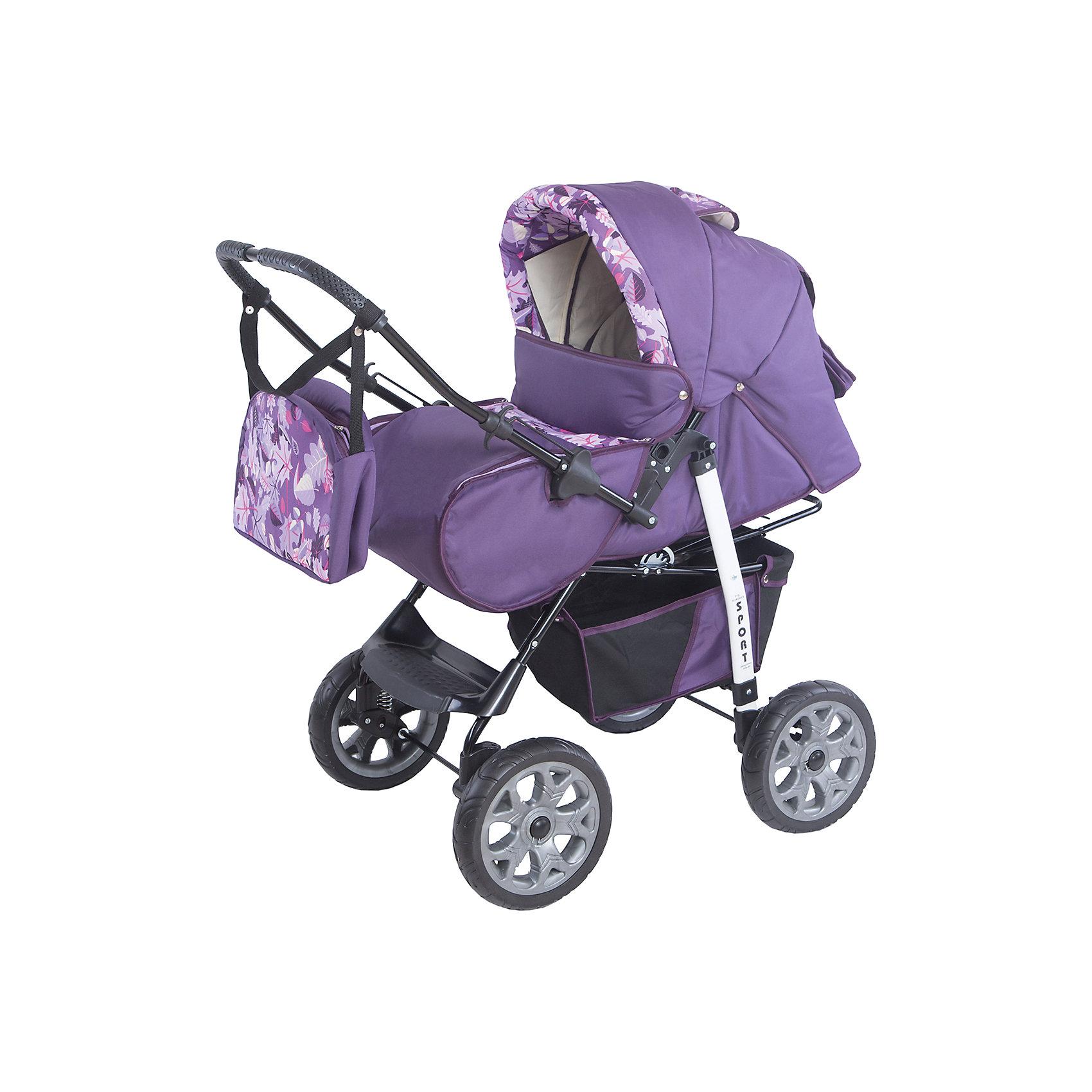 Коляска-трансформер Sport, Marimex, фиолетовый/сиреневый с принтомХарактеристики товара:<br><br>• цвет: фиолетовый, сиреневый <br>• материал: металл, текстиль, пластик<br>• размер в разложенном виде: 112х59х114 см<br>• комплектация: люлька-переноска, накидка на ножки, сумка для мамы <br>• вес: 15 кг<br>• тип складывания: книжка <br>• колеса: 4 шт<br>• пятиточечные ремни безопасности<br>• солнцезащитный козырек<br>• четыре положения спинки<br>• возможность перекидывать ручку <br>• регулируемая подножка<br>• большая корзина для покупок<br>• система амортизации: пружины <br>• страна бренда: Польша<br>• страна производства: Польша<br><br>ВНИМАНИЕ!!! Вставки с рисунком на коляске могут отличаться от представленных на фото!<br><br>Качественная коляска обеспечит родителям и ребенку удобство при прогулках и перемещениях малыша. Эта модель от польского производителя Marimex оборудована всем необходимым для комфорта. Она легко трансформирвуется под различные ситуации, имеет специальную люльку-переноску для самых маленьких.<br>В основе коляски - прочный металлический корпус, материал имеет специальную пропитку, которая защищает про промокания, но при этом оставляет ткань дышащей. Очень стильная и удобная модель! Изделие качественно выполнено, сделано из безопасных для детей материалов. <br><br>Коляску-трансформер Sport от бренда Marimex можно купить в нашем интернет-магазине.<br><br>Ширина мм: 900<br>Глубина мм: 450<br>Высота мм: 380<br>Вес г: 17700<br>Возраст от месяцев: 0<br>Возраст до месяцев: 36<br>Пол: Женский<br>Возраст: Детский<br>SKU: 5282609