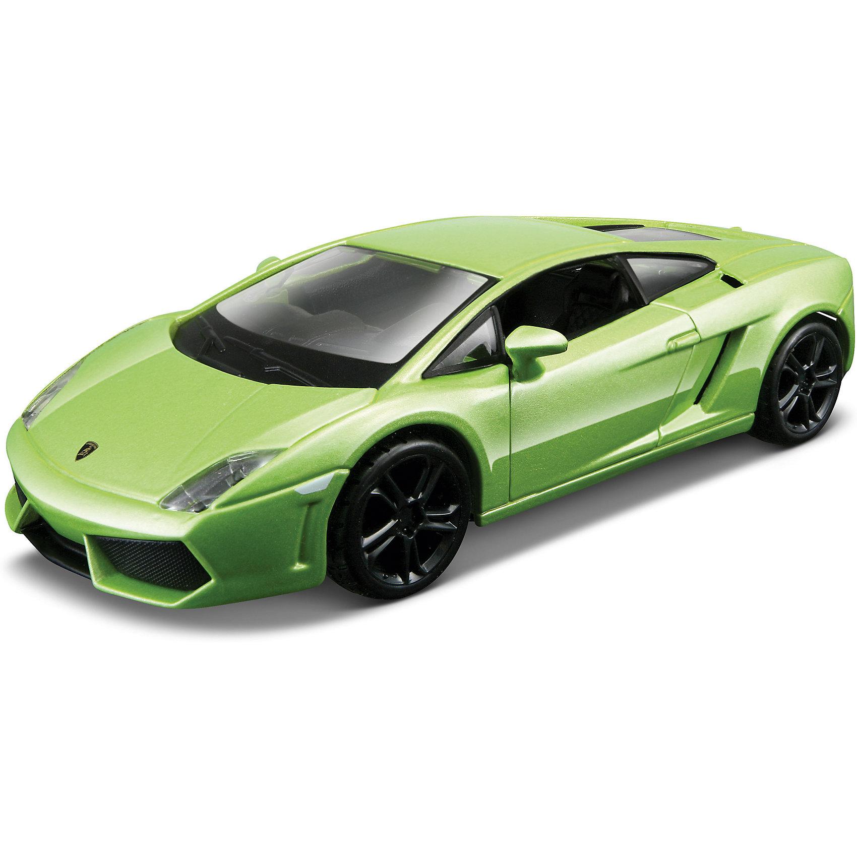Машина Lamborghini Gallardo, 1:32, зеленая, BburagoМашинки<br>Характеристики:<br><br>• длина машинки: 15 см;<br>• масштаб: 1:32;<br>• материал: металл, пластик;<br>• цвет: зеленый;<br>• размер упаковки: 16,6х7,6х7,8см.<br><br>Коллекционная машинка Lamborghini Gallardo изготовлена из металла, у машинки открываются двери, в салоне просторно и все легко рассмотреть, а за руль можно посадить минифигурку.<br><br>Машину Lamborghini Gallardo, 1:32, зеленую, Bburago можно купить в нашем магазине.<br><br>Ширина мм: 270<br>Глубина мм: 230<br>Высота мм: 90<br>Вес г: 245<br>Возраст от месяцев: 48<br>Возраст до месяцев: 2147483647<br>Пол: Мужской<br>Возраст: Детский<br>SKU: 5284956