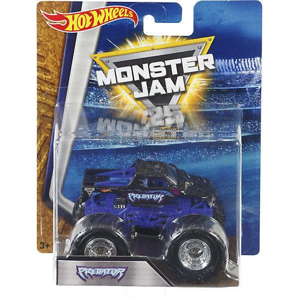 Машинка 1:64,  Monster Jam, Hot WheelsМашинки<br>Характеристики игрушечной машинки Хот Вилс:<br><br>• серия: Monster Jam;<br>• масштаб: 1:64;<br>• литой корпус;<br>• хромированные диски;<br>• проходимость колес; <br>• длина машинки: 8,5 см;<br>• размер упаковки: 17,5х14х7,5 см;<br>• вес в упаковке: 115 г.<br><br>Игрушечная модель машинки Hot Wheels на мощных колесах большого диаметра отличается высокой проходимостью, претендует на первенство в гонках, имеет литой корпус. Комбинированное использования пластика и металла делает машинку прочной и устойчивой к ударам и падениям. Тюнинг трюкового внедорожника Monster Jam соответствует пожеланиям юных коллекционеров линейки автомобилей Hot Wheels. <br><br>Машинку 1:64, Monster Jam, Hot Wheels можно купить в нашем интернет-магазине.<br><br>Ширина мм: 65<br>Глубина мм: 140<br>Высота мм: 175<br>Вес г: 130<br>Возраст от месяцев: 36<br>Возраст до месяцев: 84<br>Пол: Мужской<br>Возраст: Детский<br>SKU: 5285002