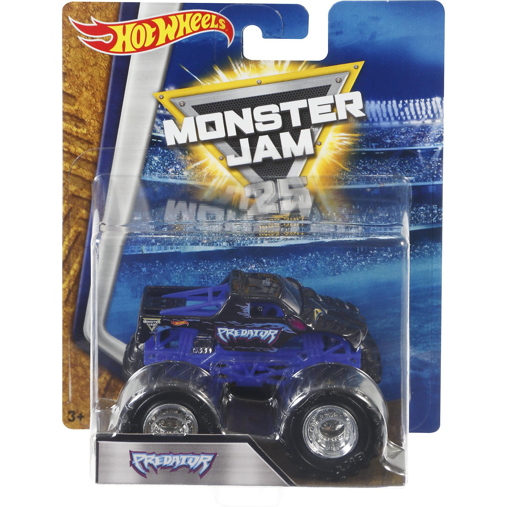 Машинка 1:64,  Monster Jam, Hot WheelsХарактеристики игрушечной машинки Хот Вилс:<br><br>• серия: Monster Jam;<br>• масштаб: 1:64;<br>• литой корпус;<br>• хромированные диски;<br>• проходимость колес; <br>• длина машинки: 8,5 см;<br>• размер упаковки: 17,5х14х7,5 см;<br>• вес в упаковке: 115 г.<br><br>Игрушечная модель машинки Hot Wheels на мощных колесах большого диаметра отличается высокой проходимостью, претендует на первенство в гонках, имеет литой корпус. Комбинированное использования пластика и металла делает машинку прочной и устойчивой к ударам и падениям. Тюнинг трюкового внедорожника Monster Jam соответствует пожеланиям юных коллекционеров линейки автомобилей Hot Wheels. <br><br>Машинку 1:64, Monster Jam, Hot Wheels можно купить в нашем интернет-магазине.<br><br>Ширина мм: 65<br>Глубина мм: 140<br>Высота мм: 175<br>Вес г: 130<br>Возраст от месяцев: 36<br>Возраст до месяцев: 84<br>Пол: Мужской<br>Возраст: Детский<br>SKU: 5285002