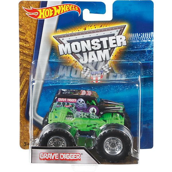 Машинка 1:64,  Monster Jam, Hot WheelsПопулярные игрушки<br>Характеристики игрушечной машинки Хот Вилс:<br><br>• серия: Monster Jam;<br>• масштаб: 1:64;<br>• литой корпус;<br>• хромированные диски;<br>• проходимость колес; <br>• длина машинки: 8,5 см;<br>• размер упаковки: 17,5х14х7,5 см;<br>• вес в упаковке: 115 г.<br><br>Игрушечная модель машинки Hot Wheels на мощных колесах большого диаметра отличается высокой проходимостью, претендует на первенство в гонках, имеет литой корпус. Комбинированное использования пластика и металла делает машинку прочной и устойчивой к ударам и падениям. Тюнинг трюкового внедорожника Monster Jam соответствует пожеланиям юных коллекционеров линейки автомобилей Hot Wheels. <br><br>Машинку 1:64, Monster Jam, Hot Wheels можно купить в нашем интернет-магазине.<br><br>Ширина мм: 65<br>Глубина мм: 140<br>Высота мм: 175<br>Вес г: 130<br>Возраст от месяцев: 36<br>Возраст до месяцев: 84<br>Пол: Мужской<br>Возраст: Детский<br>SKU: 5285004