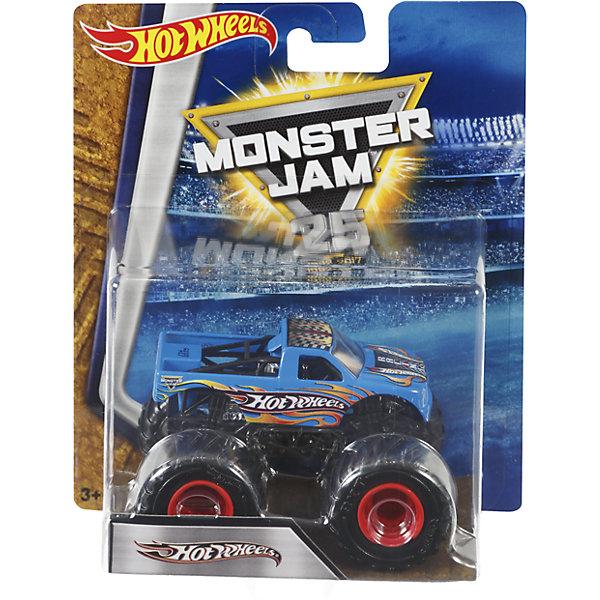 Машинка 1:64,  Monster Jam, Hot WheelsПопулярные игрушки<br>Характеристики игрушечной машинки Хот Вилс:<br><br>• серия: Monster Jam;<br>• масштаб: 1:64;<br>• литой корпус;<br>• хромированные диски;<br>• проходимость колес; <br>• длина машинки: 8,5 см;<br>• размер упаковки: 17,5х14х7,5 см;<br>• вес в упаковке: 115 г.<br><br>Игрушечная модель машинки Hot Wheels на мощных колесах большого диаметра отличается высокой проходимостью, претендует на первенство в гонках, имеет литой корпус. Комбинированное использования пластика и металла делает машинку прочной и устойчивой к ударам и падениям. Тюнинг трюкового внедорожника Monster Jam соответствует пожеланиям юных коллекционеров линейки автомобилей Hot Wheels. <br><br>Машинку 1:64, Monster Jam, Hot Wheels можно купить в нашем интернет-магазине.<br><br>Ширина мм: 65<br>Глубина мм: 140<br>Высота мм: 175<br>Вес г: 130<br>Возраст от месяцев: 36<br>Возраст до месяцев: 84<br>Пол: Мужской<br>Возраст: Детский<br>SKU: 5285006