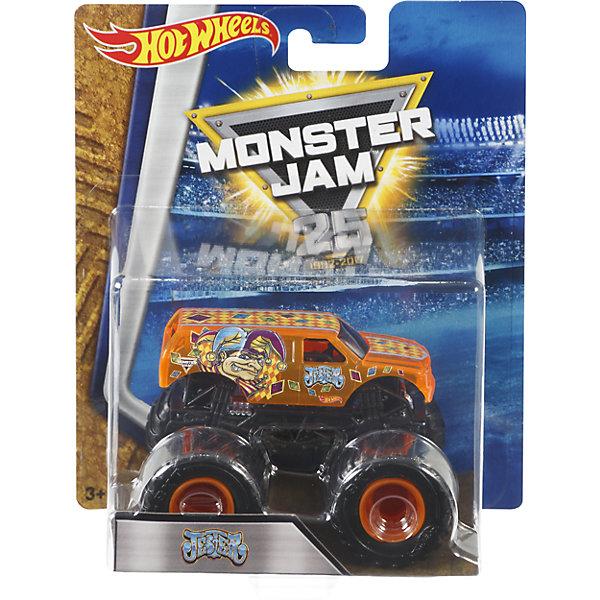 Машинка 1:64,  Monster Jam, Hot WheelsМашинки<br>Характеристики игрушечной машинки Hot Wheels:<br><br>• серия: Monster Jam;<br>• масштаб: 1:64;<br>• литой корпус;<br>• хромированные диски;<br>• проходимость колес; <br>• длина машинки: 8,5 см;<br>• размер упаковки: 17,5х14х7,5 см;<br>• вес в упаковке: 115 г.<br><br>Игрушечная модель машинки Hot Wheels на мощных колесах большого диаметра отличается высокой проходимостью, претендует на первенство в гонках, имеет литой корпус. Комбинированное использования пластика и металла делает машинку прочной и устойчивой к ударам и падениям. Тюнинг трюкового внедорожника Monster Jam соответствует пожеланиям юных коллекционеров линейки автомобилей Hot Wheels. <br><br>Машинку 1:64, Monster Jam, Hot Wheels можно купить в нашем интернет-магазине.<br><br>Ширина мм: 65<br>Глубина мм: 140<br>Высота мм: 175<br>Вес г: 130<br>Возраст от месяцев: 36<br>Возраст до месяцев: 84<br>Пол: Мужской<br>Возраст: Детский<br>SKU: 5285007