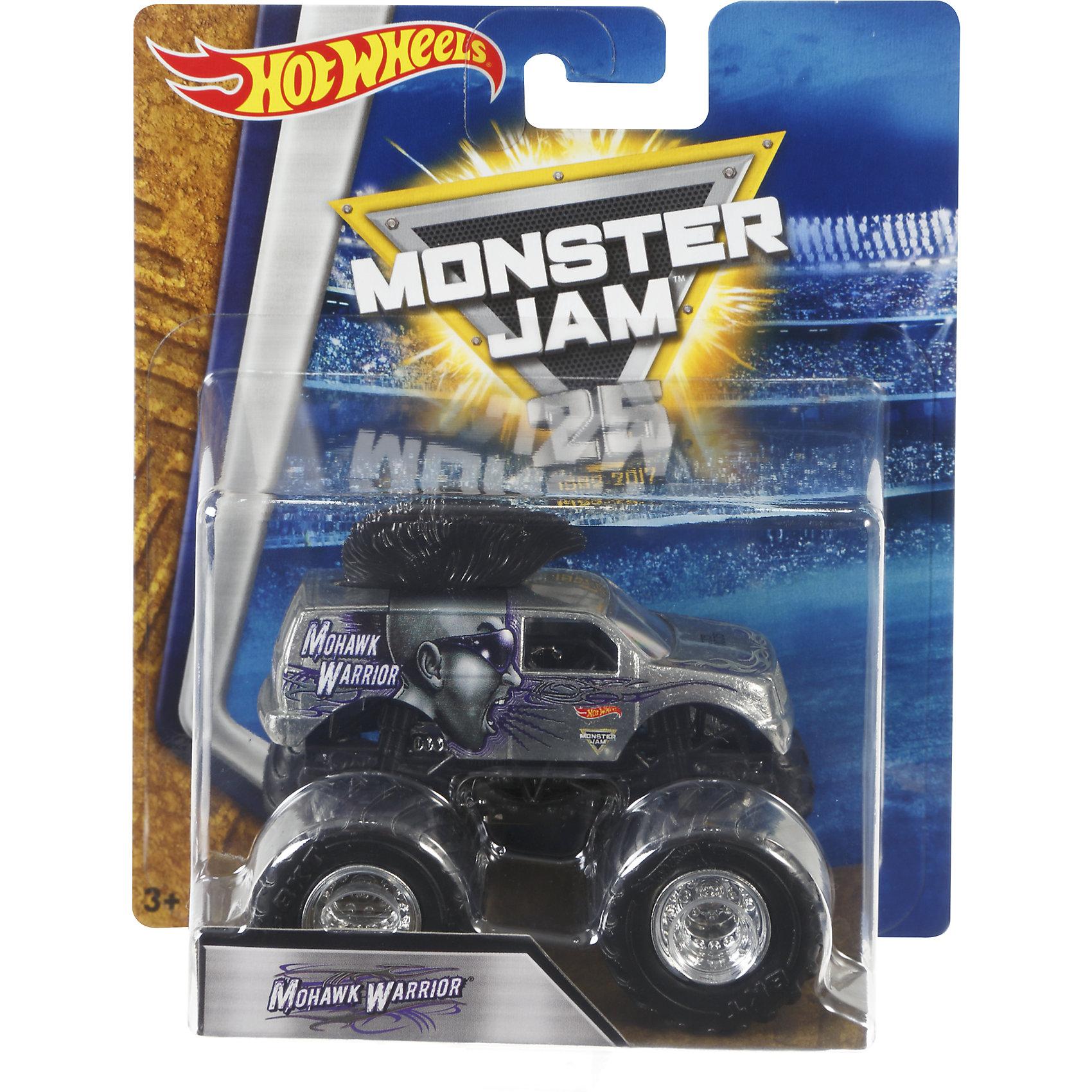 Машинка 1:64,  Monster Jam, Hot WheelsМашинки<br>Характеристики игрушечной машинки Hot Wheels:<br><br>• серия: Monster Jam;<br>• масштаб: 1:64;<br>• литой корпус;<br>• хромированные диски;<br>• проходимость колес; <br>• длина машинки: 8,5 см;<br>• размер упаковки: 17,5х14х7,5 см;<br>• вес в упаковке: 115 г.<br><br>Игрушечная модель машинки Hot Wheels на мощных колесах большого диаметра отличается высокой проходимостью, претендует на первенство в гонках, имеет литой корпус. Комбинированное использования пластика и металла делает машинку прочной и устойчивой к ударам и падениям. Тюнинг трюкового внедорожника Monster Jam соответствует пожеланиям юных коллекционеров линейки автомобилей Hot Wheels. <br><br>Машинку 1:64, Monster Jam, Hot Wheels можно купить в нашем интернет-магазине.<br><br>Ширина мм: 65<br>Глубина мм: 140<br>Высота мм: 175<br>Вес г: 130<br>Возраст от месяцев: 36<br>Возраст до месяцев: 84<br>Пол: Мужской<br>Возраст: Детский<br>SKU: 5285008