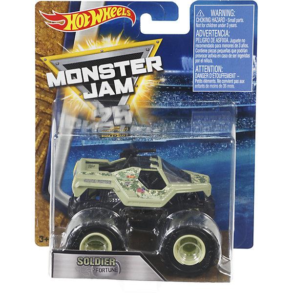 Машинка 1:64,  Monster Jam, Hot WheelsМашинки<br>Характеристики игрушечной машинки Hot Wheels:<br><br>• серия: Monster Jam;<br>• масштаб: 1:64;<br>• литой корпус;<br>• хромированные диски;<br>• проходимость колес; <br>• длина машинки: 8,5 см;<br>• размер упаковки: 17,5х14х7,5 см;<br>• вес в упаковке: 115 г.<br><br>Игрушечная модель машинки Hot Wheels на мощных колесах большого диаметра отличается высокой проходимостью, претендует на первенство в гонках, имеет литой корпус. Комбинированное использования пластика и металла делает машинку прочной и устойчивой к ударам и падениям. Тюнинг трюкового внедорожника Monster Jam соответствует пожеланиям юных коллекционеров линейки автомобилей Hot Wheels. <br><br>Машинку 1:64, Monster Jam, Hot Wheels можно купить в нашем интернет-магазине.<br><br>Ширина мм: 65<br>Глубина мм: 140<br>Высота мм: 175<br>Вес г: 130<br>Возраст от месяцев: 36<br>Возраст до месяцев: 84<br>Пол: Мужской<br>Возраст: Детский<br>SKU: 5285009