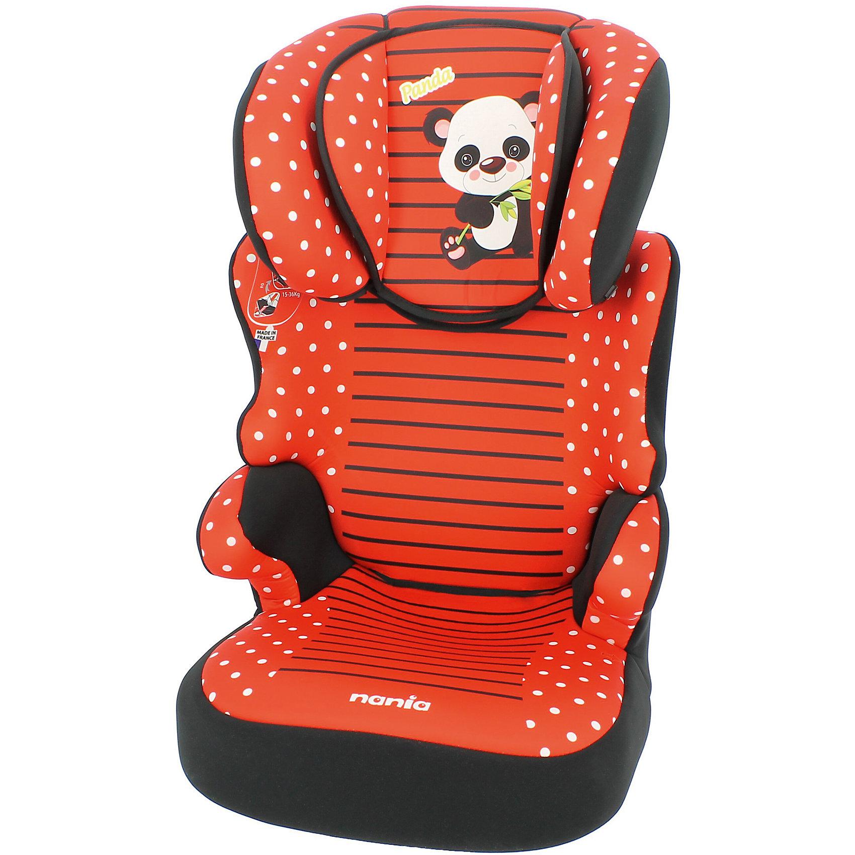 Автокресло Befix SP, 15-36 кг., Nania, panda redХарактеристики автокресла Nania Befix SP:<br><br>• группа 2-3;<br>• вес ребенка: 15-36 кг;<br>• возраст ребенка: от 3 до 12 лет;<br>• способ установки: по ходу движения автомобиля;<br>• способ крепления: штатными ремнями безопасности автомобиля;<br>• регулируемая высота подголовника: 6 положений;<br>• дополнительная защита от боковых ударов, система SP – Side Protection;<br>• подлокотники, широкие боковинки, дополнительная подушечка;<br>• возможность использовать автокресло как бустер – спинка снимается;<br>• съемные чехлы, стирка при температуре 30 градусов;<br>• материал: пластик, полиэстер;<br>• стандарт безопасности: ECE R44/04.<br><br>Размер автокресла: 45х45х72/88 см<br>Размер сиденья: 34х30 см<br>Высота спинки: 64-75 см<br>Вес автокресла: 4,7 кг<br><br>Безопасно путешествовать с ребенком на автомобиле позволяет автокресло. Для детей от 3 до 12 лет используется автокресло Nania Befix SP. Брендовое оформление, соответствие стандартам качества, дополнительные элементы для комфортного пребывания ребенка в автокресле. <br><br>Автокресло Befix SP, 15-36 кг., Nania, panda red можно купить в нашем интернет-магазине.<br><br>Ширина мм: 710<br>Глубина мм: 450<br>Высота мм: 500<br>Вес г: 8780<br>Возраст от месяцев: 36<br>Возраст до месяцев: 144<br>Пол: Женский<br>Возраст: Детский<br>SKU: 5287285