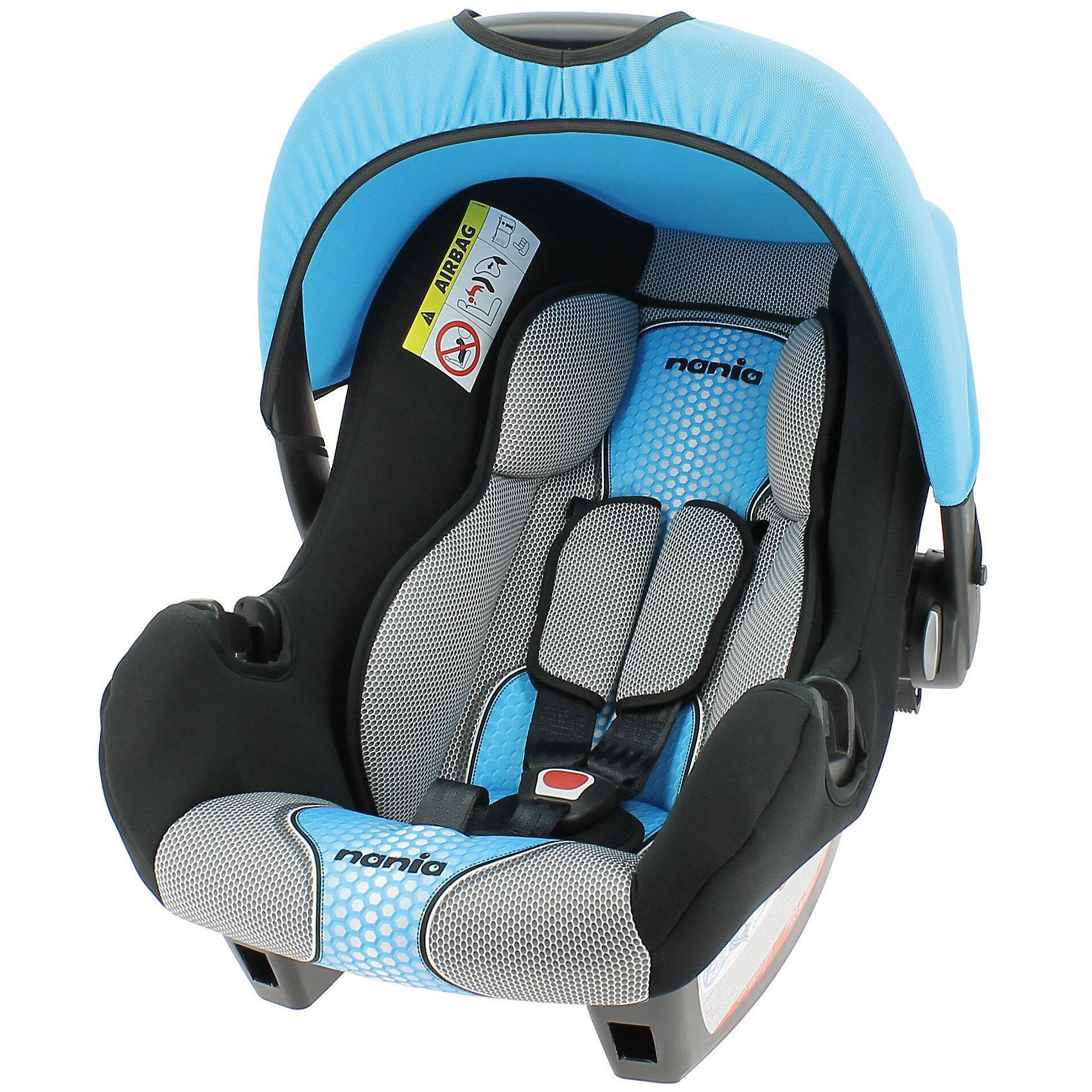 Автокресло Beone SP FST 0-13 кг., Nania, pop blueХарактеристики автолюльки Nania Beone SP FST:<br><br>• группа 0+;<br>• вес ребенка: до 13 кг;<br>• возраст ребенка: от рождения до 12 месяцев;<br>• способ установки: против хода движения автомобиля;<br>• способ крепления: штатными ремнями безопасности автомобиля;<br>• солнцезащитный тент, положение регулируется;<br>• анатомический вкладыш для новорожденного;<br>• 3-х точечные ремни безопасности с мягкими накладками;<br>• ручка для переноски автолюльки;<br>• эргономичная чаша автокресла;<br>• дополнительная защита от боковых ударов, система SP (side protection);<br>• съемные чехлы, стирка при температуре 30 градусов;<br>• материал: пластик, полиэстер;<br>• стандарт безопасности: ЕСЕ R44/04.<br><br>Размер автокресла: 70х47х40 см<br>Вес автокресла: 3,2 кг<br><br>Автолюлька для новорожденных устанавливается на заднем сиденье автомобиля лицом против хода движения автомобиля. Специальная жесткая ручка позволяет использовать автолюльку в качестве переноски, чтобы не потревожить спящего малыша. Глубокая чаша и капор обеспечивают комфортное положение ребенка в автокресле с защитой от солнечных лучей. <br><br>Автокресло Beone SP FST 0-13 кг., Nania, pop blue можно купить в нашем интернет-магазине.<br><br>Ширина мм: 400<br>Глубина мм: 390<br>Высота мм: 720<br>Вес г: 7690<br>Возраст от месяцев: 0<br>Возраст до месяцев: 15<br>Пол: Мужской<br>Возраст: Детский<br>SKU: 5287288