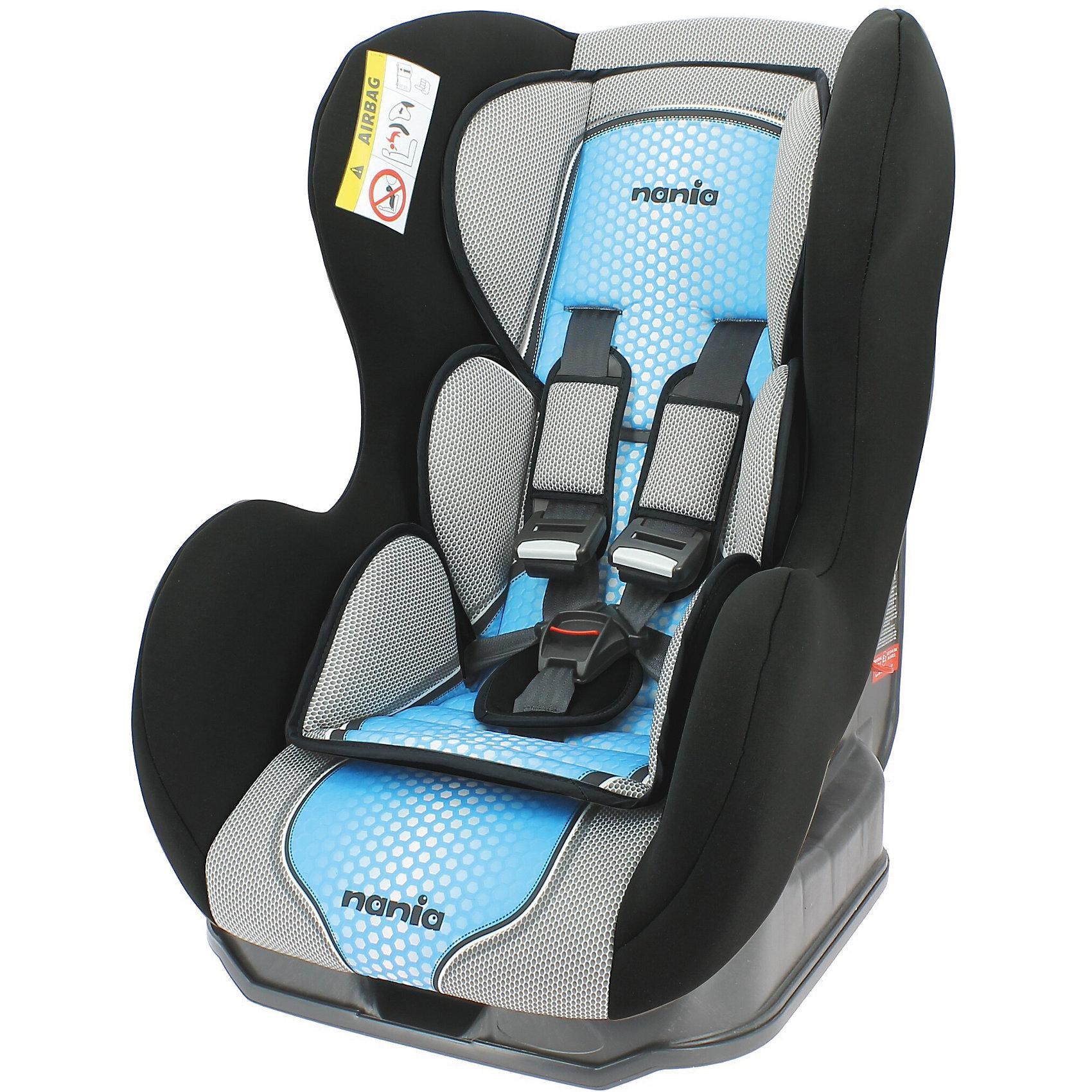Автокресло Cosmo SP FST 0-18 кг., Nania, pop blueХарактеристики Nania Cosmo SP FST:<br><br>• группа 0+/1;<br>• вес ребенка: до 18 кг;<br>• возраст ребенка: от рождения до 4-х лет;<br>• способ установки: против хода (до 9 кг) и по ходу движения автомобиля (9-18кг);<br>• способ крепления: штатными ремнями безопасности автомобиля;<br>• 5-ти точечные ремни безопасности с мягкими накладками;<br>• угол наклона спинки регулируется: 3 положения;<br>• анатомический вкладыш для новорожденного, подголовник;<br>• дополнительная защита от боковых ударов, система SP (side protection);<br>• съемные чехлы, стирка при температуре 30 градусов;<br>• материал: пластик, полиэстер;<br>• стандарт безопасности: ЕСЕ R44/03.<br><br>Размер автокресла: 54х45х61 см<br>Размер сиденья: 33х31 см<br>Высота спинки: 55 см<br>Вес автокресла: 5,7 кг<br><br>Автокресло Nania Cosmo SP FST устанавливается как по ходу движения, так и против хода движения автомобиля, как на заднем сиденье автомобиля, так и на переднем сиденье автомобиля (с условием отключения подушки безопасности). Регулируемая спинка дает возможность малышу занять удобное положение, как во время сна, так и во время бодрствования. Автокресло соответствует всем стандартам безопасности. <br><br>Автокресло Cosmo SP FST 0-18 кг., Nania, pop blue можно купить в нашем интернет-магазине.<br><br>Ширина мм: 660<br>Глубина мм: 455<br>Высота мм: 805<br>Вес г: 14910<br>Возраст от месяцев: 0<br>Возраст до месяцев: 48<br>Пол: Мужской<br>Возраст: Детский<br>SKU: 5287290