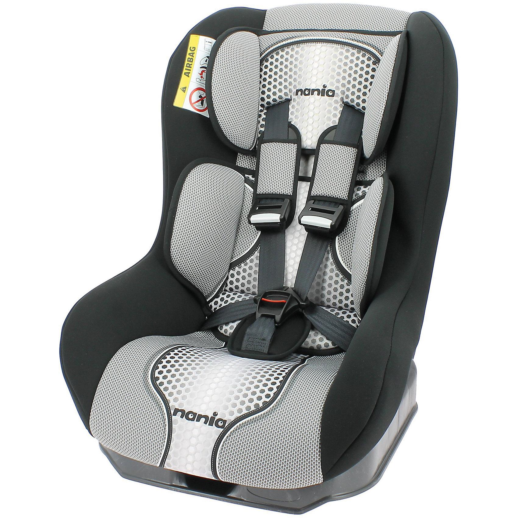 Автокресло Nania Driver FST, 0-18 кг, pop blackГруппа 0+, 1 (До 18 кг)<br>Характеристики автокресла Nania Driver FST:<br><br>• группа 0-1;<br>• вес ребенка: до 18 кг;<br>• возраст ребенка: от рождения до 4-х лет;<br>• способ установки: по ходу движения автомобиля;<br>• способ крепления: штатными ремнями безопасности автомобиля;<br>• 5-ти точечные ремни безопасности с мягкими накладками;<br>• регулируемый наклон спинки;<br>• анатомический вкладыш для новорожденного, подголовник;<br>• дополнительная защита от боковых ударов, система SP (side protection);<br>• съемные чехлы, стирка при температуре 30 градусов;<br>• материал: пластик, полиэстер;<br>• стандарт безопасности: ЕСЕ R44/03.<br><br>Размер автокресла: 59х48х43 см<br>Размер упаковки: 45х50х60 см<br>Вес в упаковке: 4,44 кг<br><br>Обезопасить ребенка во время поездок на машине помогает детское автокресло. Группа автокресел 0/1 используется, пока вес ребенка находится в пределах 18 кг. Регулируемый наклон спинки позволяет малышу выбрать подходящее положение и для сна, и для игр. Малыша пристегивают встроенными ремнями безопасности, которые регулируются по длине. <br><br>Автокресло Driver FST, 0-18 кг., Nania, pop black можно купить в нашем интернет-магазине.<br><br>Ширина мм: 600<br>Глубина мм: 460<br>Высота мм: 520<br>Вес г: 12490<br>Возраст от месяцев: 0<br>Возраст до месяцев: 48<br>Пол: Унисекс<br>Возраст: Детский<br>SKU: 5287296