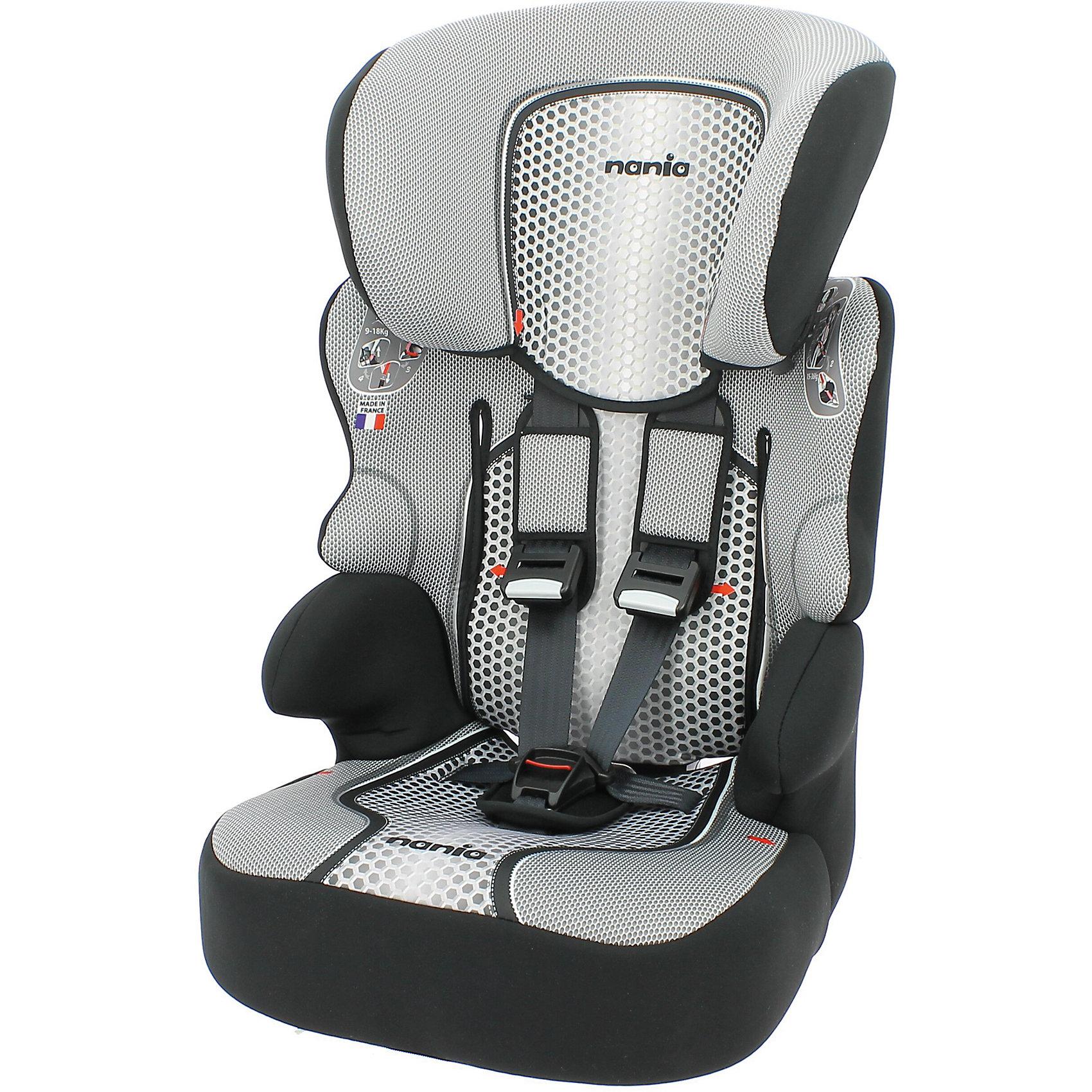 Автокресло Nania Beline SP FST 9-36 кг, pop blackГруппа 1-2-3 (От 9 до 36 кг)<br>Характеристики автокресла Nania Beline SP FST:<br><br>• группа 1-2-3;<br>• вес ребенка: 9-36 кг;<br>• возраст ребенка: от 9 месяцев до 12 лет;<br>• способ установки: по ходу движения автомобиля;<br>• способ крепления: штатными ремнями безопасности автомобиля;<br>• 5-ти точечные ремни безопасности с мягкими накладками, регулируются по высоте (3 положения) и длине;<br>• имеются подлокотники;<br>• регулируемая высота подголовника: 6 положений;<br>• дополнительная защита от боковых ударов, система SP (side protection);<br>• функция бустера: спинка снимается, остается только креслице для ребенка, вес которого находится в пределах 22-36 кг;<br>• съемные чехлы, стирка при температуре 30 градусов;<br>• материал: пластик, полиэстер;<br>• стандарт безопасности: ЕСЕ R44/04.<br><br>Размер автокресла: 47x44x68/79 см<br>Размер сиденья: 34х27 см<br>Высота спинки: 61-72 см<br>Вес автокресла: 3,9 кг<br><br>Автокресло Beline SP FST 9-36 кг., Nania, pop black можно купить в нашем интернет-магазине.<br><br>Ширина мм: 710<br>Глубина мм: 500<br>Высота мм: 450<br>Вес г: 10520<br>Возраст от месяцев: 9<br>Возраст до месяцев: 144<br>Пол: Унисекс<br>Возраст: Детский<br>SKU: 5287300