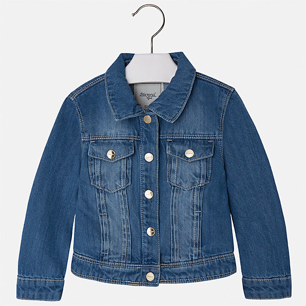 Куртка джинсовая для девочки MayoralДжинсовая одежда<br>Куртка для девочки от известной испанской марки Mayoral.<br><br>Ширина мм: 356<br>Глубина мм: 10<br>Высота мм: 245<br>Вес г: 519<br>Цвет: синий<br>Возраст от месяцев: 36<br>Возраст до месяцев: 48<br>Пол: Женский<br>Возраст: Детский<br>Размер: 104,110,116,122,128,134,92,98<br>SKU: 5288636