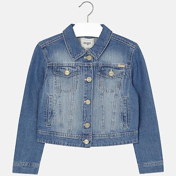 Куртка джинсовая для девочки MayoralДжинсовая одежда<br>Куртка для девочки от известной испанской марки Mayoral.<br><br>Ширина мм: 356<br>Глубина мм: 10<br>Высота мм: 245<br>Вес г: 519<br>Цвет: синий<br>Возраст от месяцев: 168<br>Возраст до месяцев: 180<br>Пол: Женский<br>Возраст: Детский<br>Размер: 170,158,128/134,140,152,164<br>SKU: 5288661