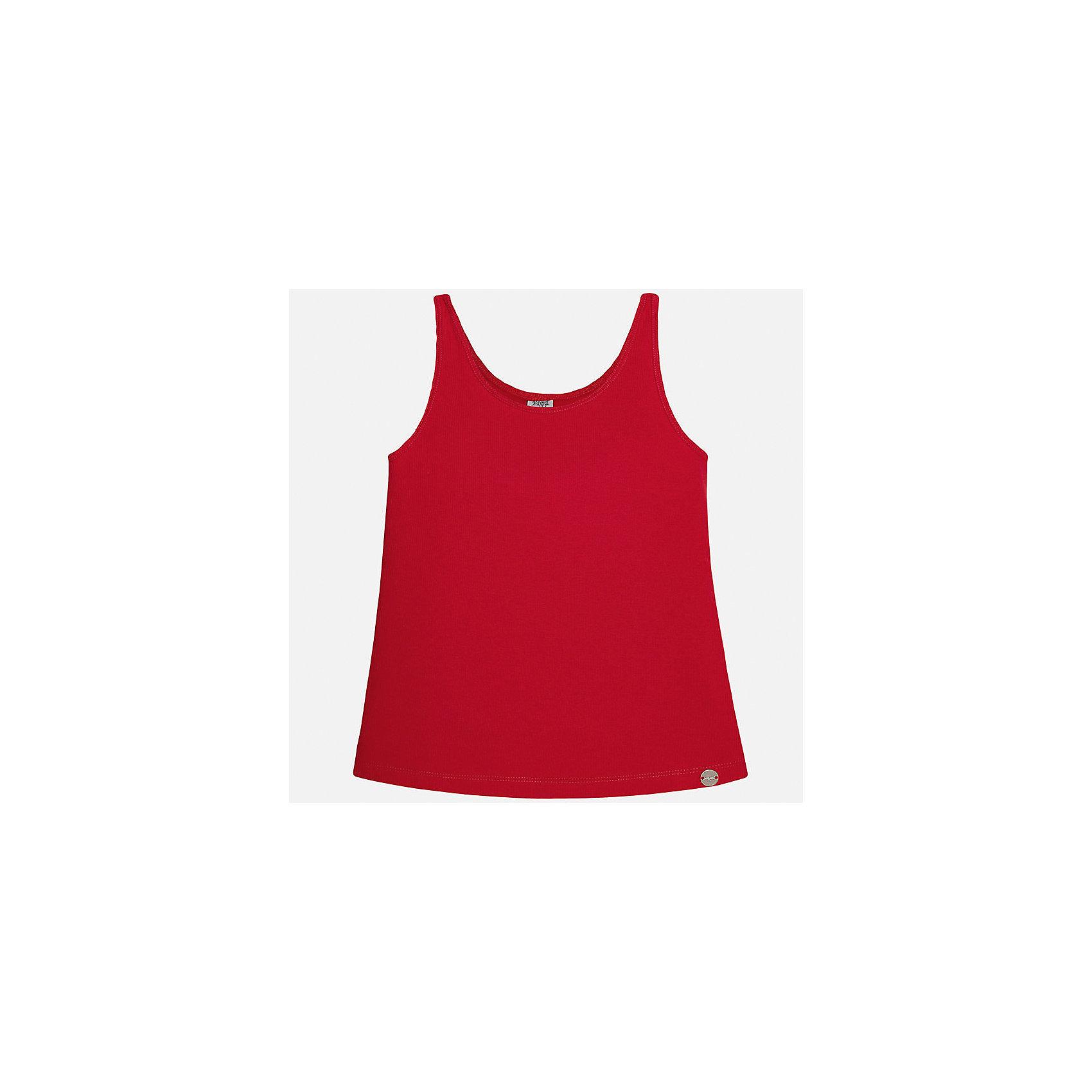 Майка для девочки MayoralФутболки, поло и топы<br>Характеристики товара:<br><br>• цвет: красный<br>• состав: 57% хлопок, 38% полиэстер, 5% эластан<br>• эластичный материал<br>• логотип<br>• округлый горловой вырез<br>• страна бренда: Испания<br><br>Стильная качественная майка для девочки поможет разнообразить гардероб ребенка и украсить наряд. Она отлично сочетается и с юбками, и с шортами, и с брюками. Яркий цвет позволяет подобрать к вещи низ практически любой расцветки. В составе материала - натуральный хлопок, гипоаллергенный, приятный на ощупь, дышащий.<br><br>Одежда, обувь и аксессуары от испанского бренда Mayoral полюбились детям и взрослым по всему миру. Модели этой марки - стильные и удобные. Для их производства используются только безопасные, качественные материалы и фурнитура. Порадуйте ребенка модными и красивыми вещами от Mayoral! <br><br>Майку для девочки от испанского бренда Mayoral (Майорал) можно купить в нашем интернет-магазине.<br><br>Ширина мм: 199<br>Глубина мм: 10<br>Высота мм: 161<br>Вес г: 151<br>Цвет: красный<br>Возраст от месяцев: 108<br>Возраст до месяцев: 120<br>Пол: Женский<br>Возраст: Детский<br>Размер: 140,170,128/134,152,158,164<br>SKU: 5288743