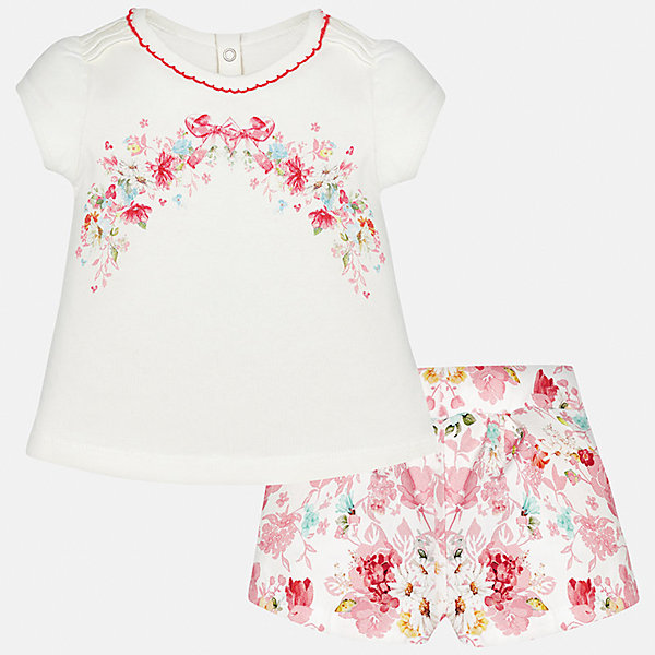 Купить со скидкой Комплект: футболка и шорты для девочки Mayoral