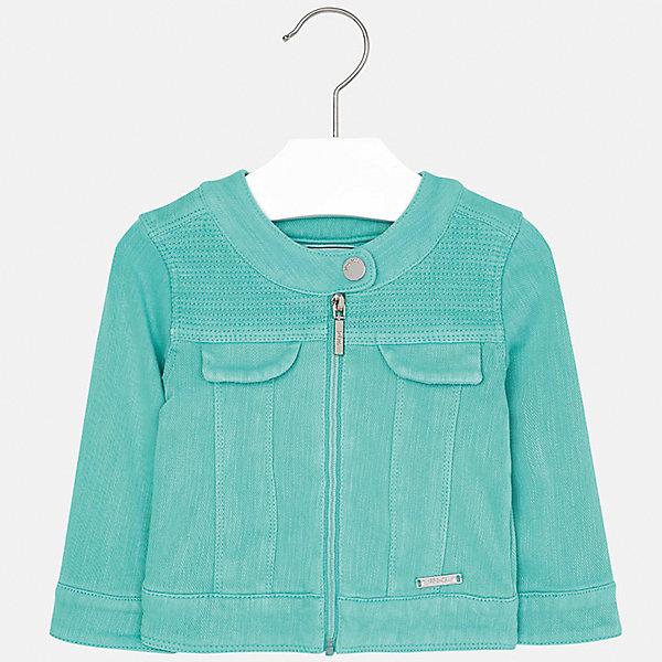 Куртка для девочки MayoralВерхняя одежда<br>Куртка для девочки от известной испанской марки Mayoral.<br>Ширина мм: 356; Глубина мм: 10; Высота мм: 245; Вес г: 519; Цвет: зеленый; Возраст от месяцев: 6; Возраст до месяцев: 9; Пол: Женский; Возраст: Детский; Размер: 74,92,86,80; SKU: 5288931;
