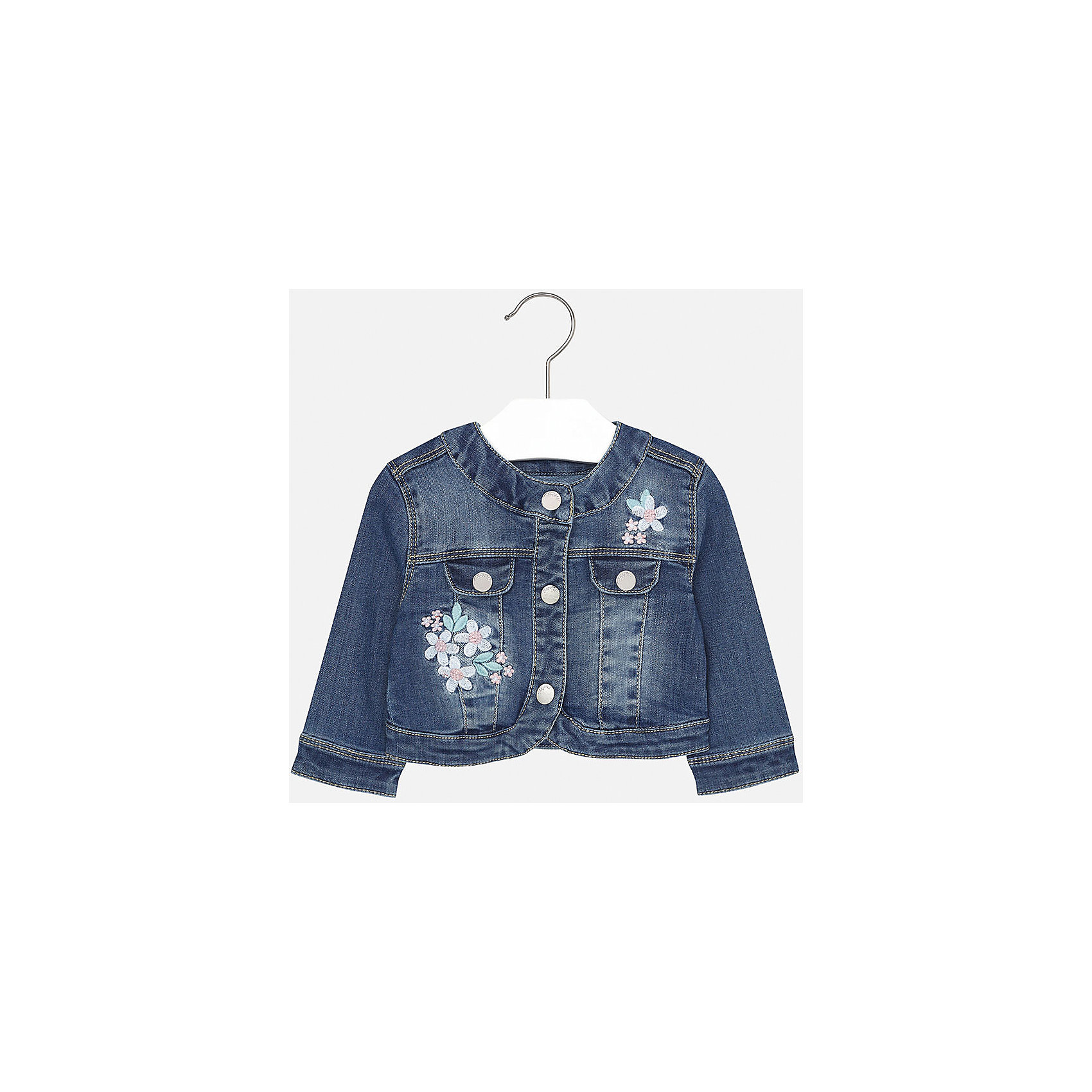Куртка джинсовая для девочки MayoralДжинсовая одежда<br>Куртка для девочки от известной испанской марки Mayoral.<br><br>Ширина мм: 356<br>Глубина мм: 10<br>Высота мм: 245<br>Вес г: 519<br>Цвет: разноцветный<br>Возраст от месяцев: 18<br>Возраст до месяцев: 24<br>Пол: Женский<br>Возраст: Детский<br>Размер: 92,74,80,86<br>SKU: 5288941