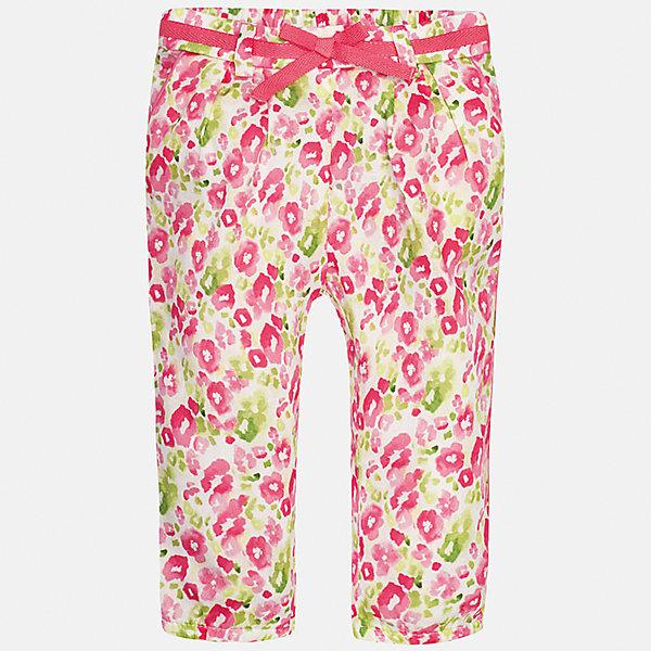 Брюки для девочки MayoralДжинсы и брючки<br>Характеристики товара:<br><br>• цвет: розовый<br>• состав: 100% хлопок<br>• складки на талии<br>• шлевки<br>• пояс с регулировкой объема<br>• цветочный принт<br>• страна бренда: Испания<br><br>Модные легкие брюки для девочки смогут разнообразить гардероб ребенка и украсить наряд. Они отлично сочетаются с майками, футболками, блузками. Красивый оттенок позволяет подобрать к вещи верх разных расцветок. Интересный крой модели делает её нарядной и оригинальной. <br><br>Одежда, обувь и аксессуары от испанского бренда Mayoral полюбились детям и взрослым по всему миру. Модели этой марки - стильные и удобные. Для их производства используются только безопасные, качественные материалы и фурнитура. Порадуйте ребенка модными и красивыми вещами от Mayoral! <br><br>Брюки для девочки от испанского бренда Mayoral (Майорал) можно купить в нашем интернет-магазине.<br><br>Ширина мм: 215<br>Глубина мм: 88<br>Высота мм: 191<br>Вес г: 336<br>Цвет: розовый<br>Возраст от месяцев: 6<br>Возраст до месяцев: 9<br>Пол: Женский<br>Возраст: Детский<br>Размер: 74,92,86,80<br>SKU: 5288991