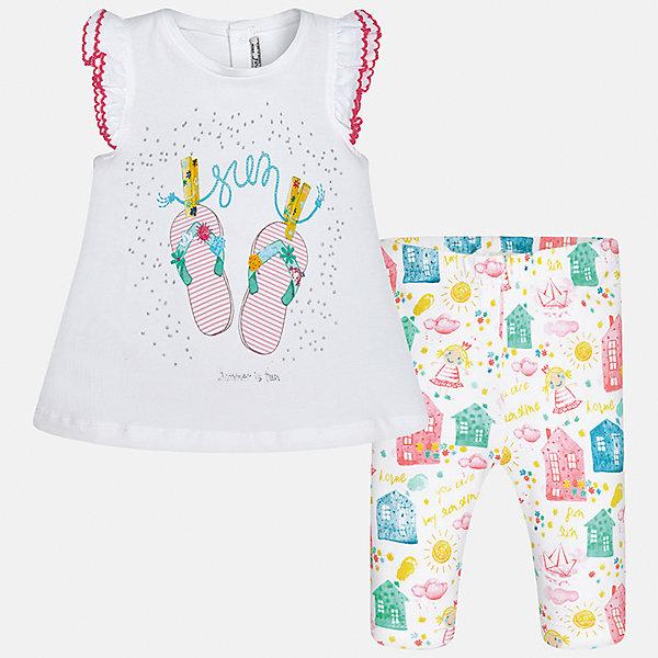 Комплект: футболка с длинным рукавом и бриджи для девочки MayoralКомплекты<br>Комплект: футболка с длинным рукавом и бриджи для девочки от известной испанской марки Mayoral.<br><br>Ширина мм: 191<br>Глубина мм: 10<br>Высота мм: 175<br>Вес г: 273<br>Цвет: лиловый<br>Возраст от месяцев: 6<br>Возраст до месяцев: 9<br>Пол: Женский<br>Возраст: Детский<br>Размер: 74,80,92,86<br>SKU: 5289026