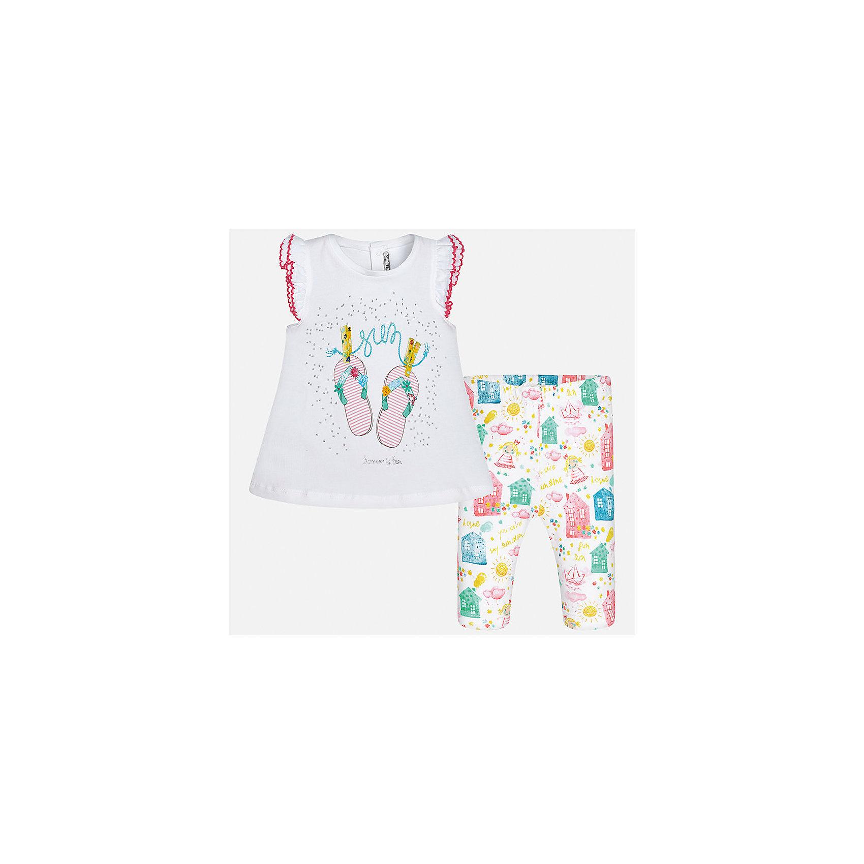 Комплект: футболка с длинным рукавом и бриджи для девочки MayoralКомплекты<br>Комплект: футболка с длинным рукавом и бриджи для девочки от известной испанской марки Mayoral.<br><br>Ширина мм: 191<br>Глубина мм: 10<br>Высота мм: 175<br>Вес г: 273<br>Цвет: лиловый<br>Возраст от месяцев: 6<br>Возраст до месяцев: 9<br>Пол: Женский<br>Возраст: Детский<br>Размер: 80,86,74,92<br>SKU: 5289026