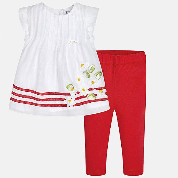 Комплект: рубашка и брюки для девочки MayoralКомплекты<br>Комплект: рубашка и брюки для девочки от известной испанской марки Mayoral.<br>Ширина мм: 215; Глубина мм: 88; Высота мм: 191; Вес г: 336; Цвет: красный; Возраст от месяцев: 6; Возраст до месяцев: 9; Пол: Женский; Возраст: Детский; Размер: 74,92,86,80; SKU: 5289031;