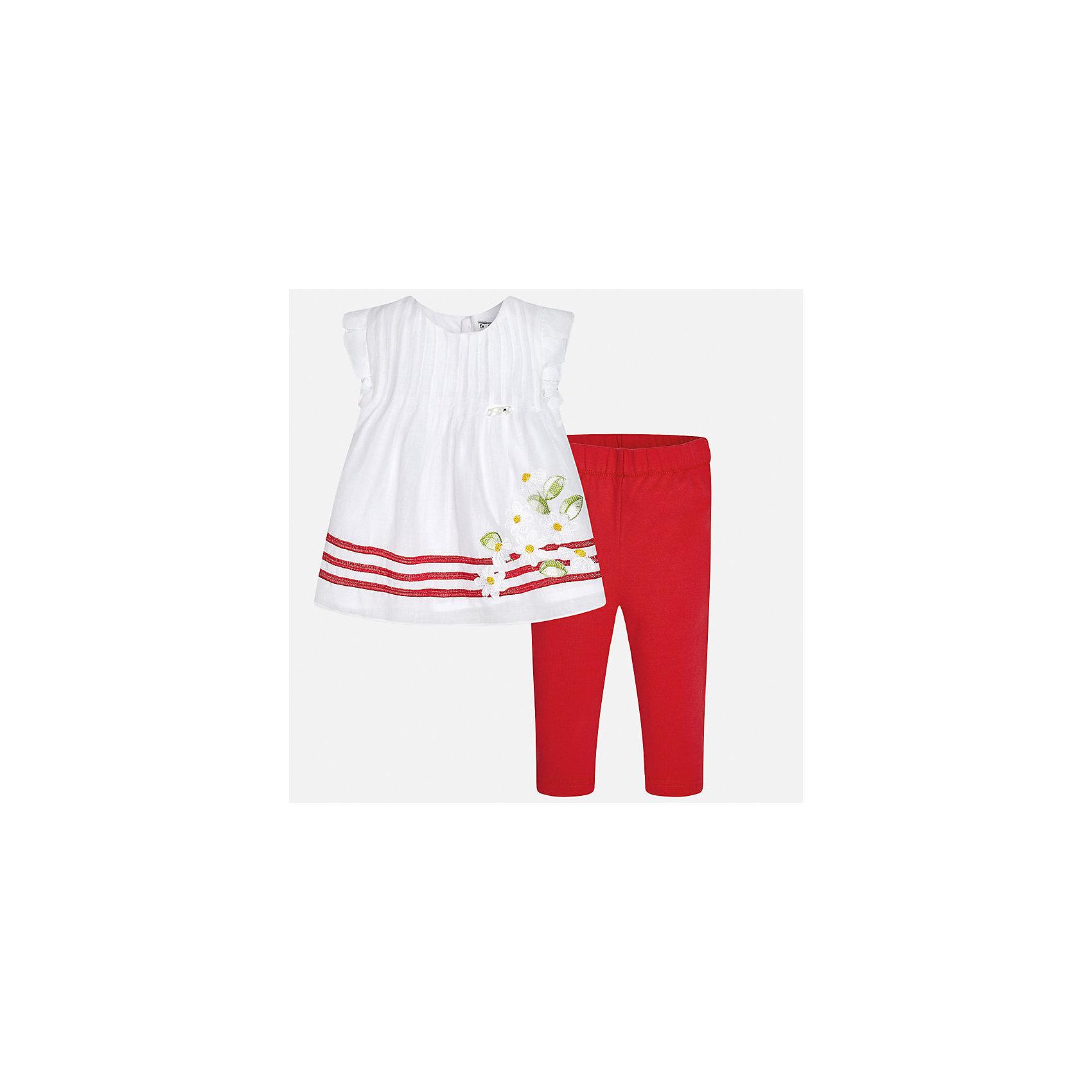 Комплект: рубашка и брюки для девочки MayoralКомплекты<br>Комплект: рубашка и брюки для девочки от известной испанской марки Mayoral.<br><br>Ширина мм: 215<br>Глубина мм: 88<br>Высота мм: 191<br>Вес г: 336<br>Цвет: красный<br>Возраст от месяцев: 12<br>Возраст до месяцев: 15<br>Пол: Женский<br>Возраст: Детский<br>Размер: 80,74,92,86<br>SKU: 5289031