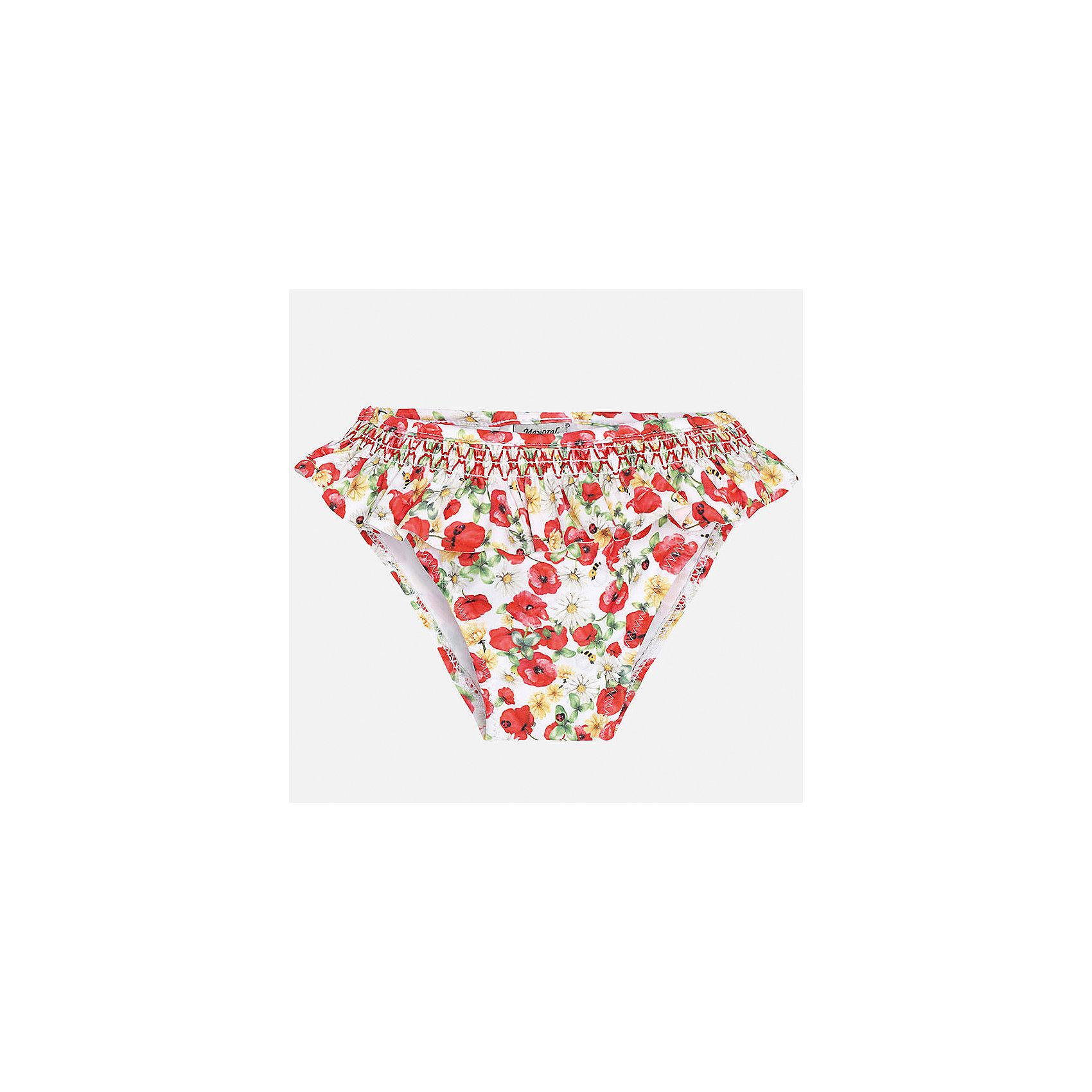 Плавки для девочки MayoralКупальники и плавки<br>Характеристики товара:<br><br>• цвет: белый/красный<br>• состав: верх - 85% полиамид, 15% эластан, подкладка - 96% полиамид, 4% эластан<br>• украшены оборками <br>• цветочный принт<br>• с подкладкой<br>• быстросохнущий материал<br>• страна бренда: Испания<br><br>Одежда для купания должна быть удобной! Эти плавки для девочки не только хорошо сидят на ребенке, не стесняя движения и не натирая, они отлично смотрятся! Сшиты из плотной эластичной ткани, но она очень быстро высыхает. Интересная отделка модели делает её нарядной и оригинальной.<br> <br>Одежда, обувь и аксессуары от испанского бренда Mayoral полюбились детям и взрослым по всему миру. Модели этой марки - стильные и удобные. Для их производства используются только безопасные, качественные материалы и фурнитура. Порадуйте ребенка модными и красивыми вещами от Mayoral! <br><br>Плавки для девочки от испанского бренда Mayoral (Майорал) можно купить в нашем интернет-магазине.<br><br>Ширина мм: 183<br>Глубина мм: 60<br>Высота мм: 135<br>Вес г: 119<br>Цвет: красный<br>Возраст от месяцев: 12<br>Возраст до месяцев: 18<br>Пол: Женский<br>Возраст: Детский<br>Размер: 86,92,80<br>SKU: 5289036