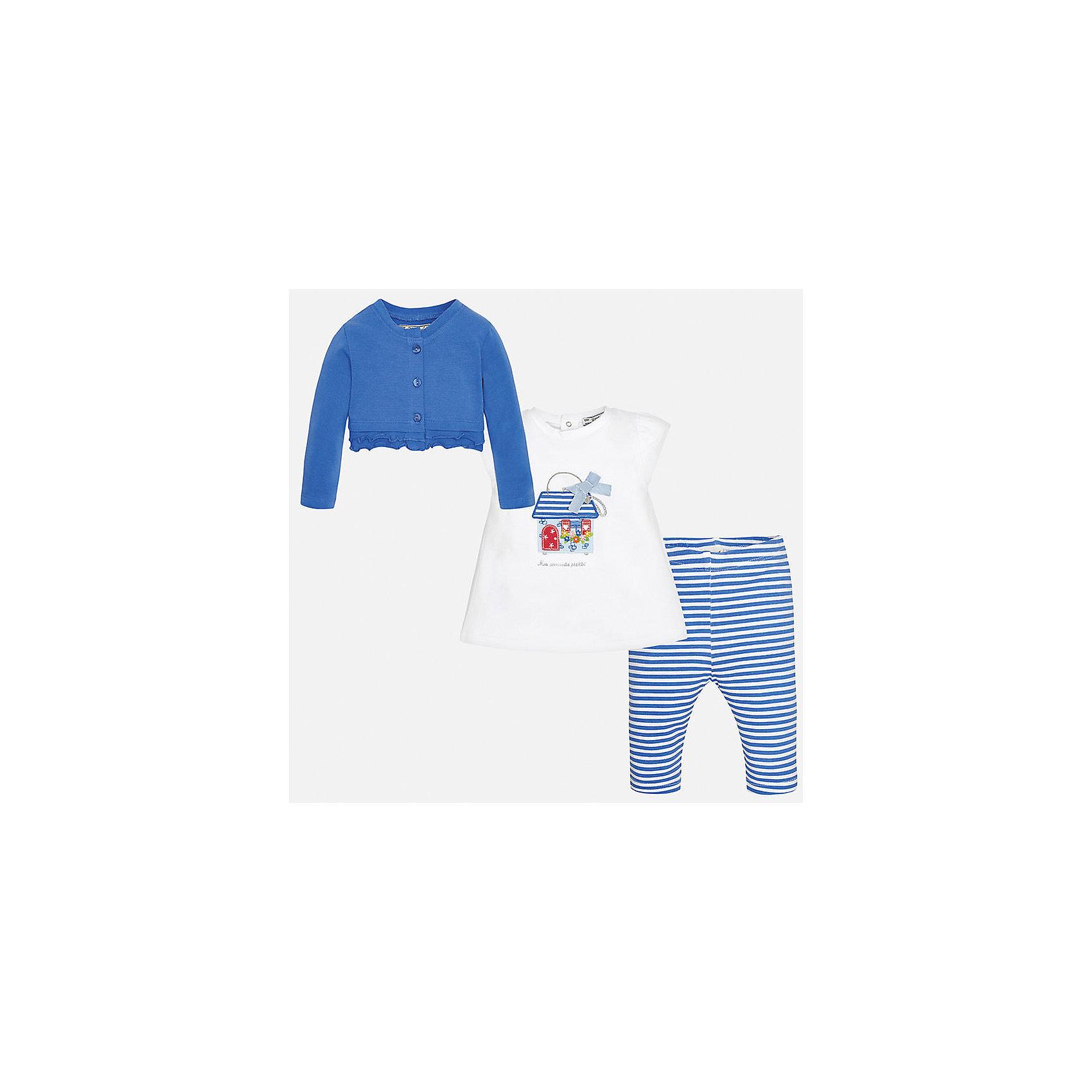 Комплект: футбола с длинным рукавом и леггинсы для девочки MayoralКомплекты<br>Комплект: футбола с длинным рукавом и леггинсы для девочки от известной испанской марки Mayoral.<br><br>Ширина мм: 123<br>Глубина мм: 10<br>Высота мм: 149<br>Вес г: 209<br>Цвет: синий<br>Возраст от месяцев: 12<br>Возраст до месяцев: 18<br>Пол: Женский<br>Возраст: Детский<br>Размер: 86,80,92,74<br>SKU: 5289092