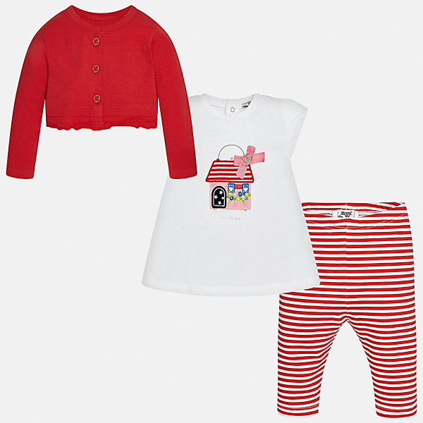 Комплект: футбола с длинным рукавом и леггинсы для девочки MayoralКомплекты<br>Комплект: футбола с длинным рукавом и леггинсы для девочки от известной испанской марки Mayoral.<br><br>Ширина мм: 123<br>Глубина мм: 10<br>Высота мм: 149<br>Вес г: 209<br>Цвет: красный<br>Возраст от месяцев: 6<br>Возраст до месяцев: 9<br>Пол: Женский<br>Возраст: Детский<br>Размер: 92,86,80,74<br>SKU: 5289097